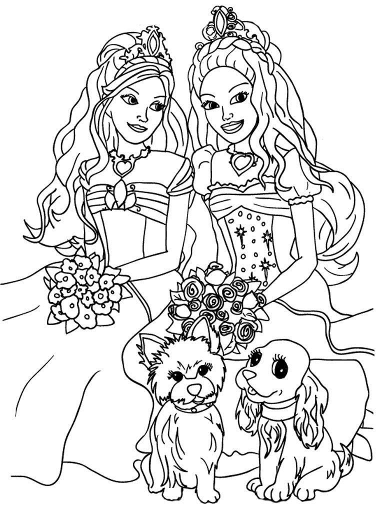 Barbie Princess Coloring Pages, Barbie Mermaid Coloring
