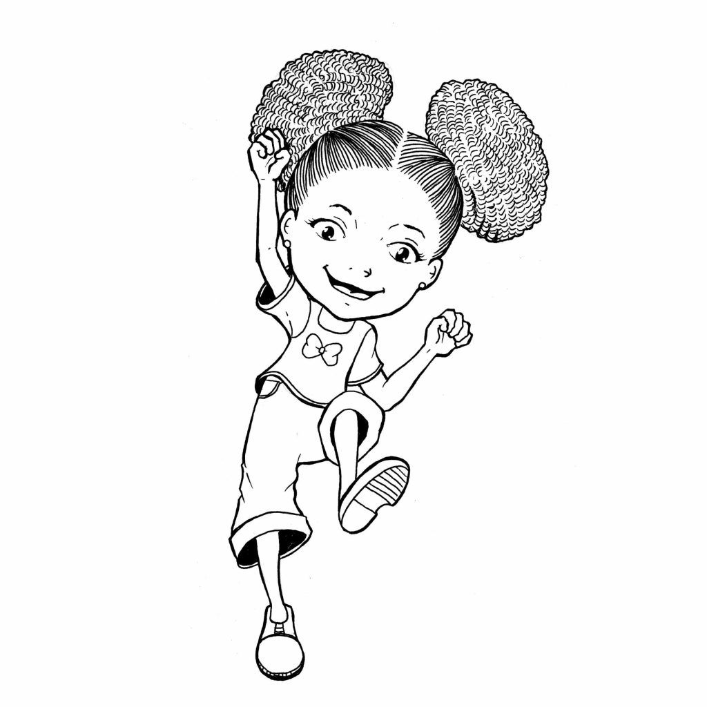 Girl Coloring Pages � Coloringrocks! | Cartoon Coloring