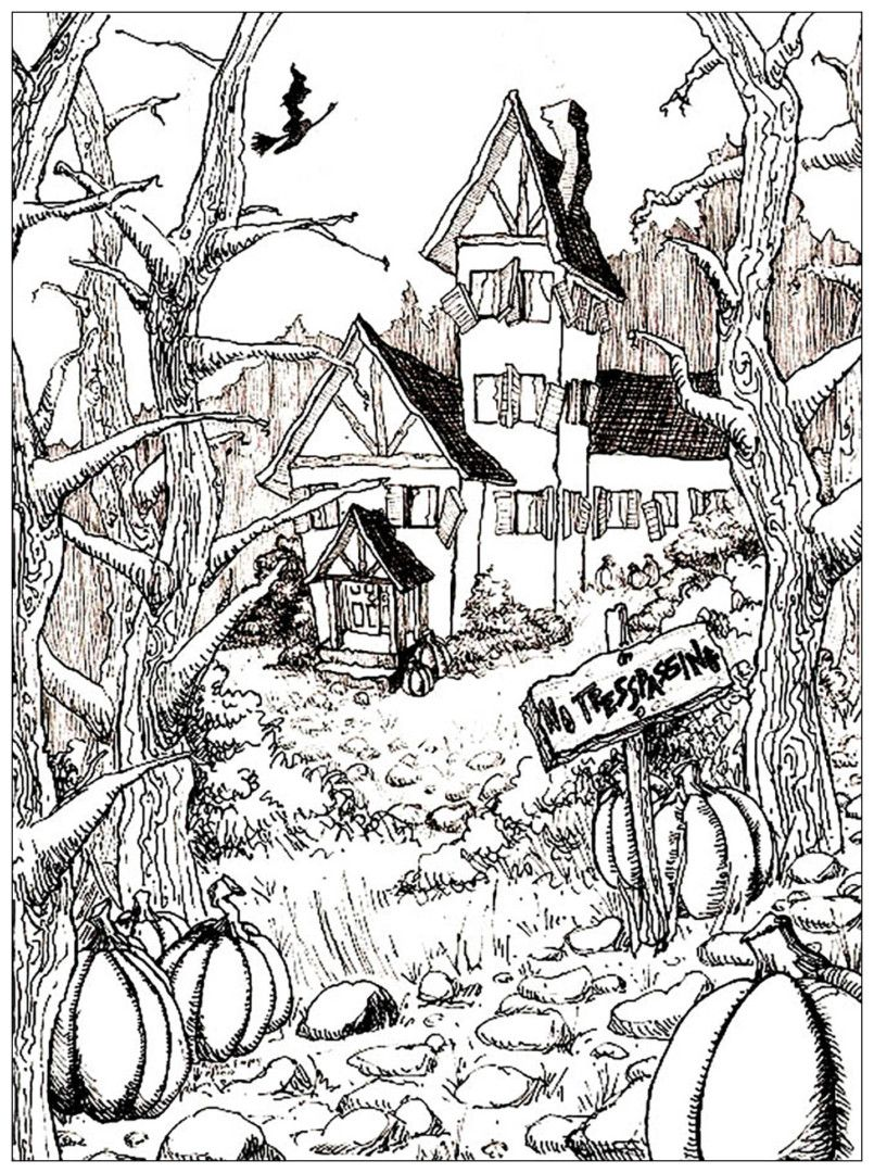 Pin By Julia On Colorings | Halloween Coloring Pages, Adult