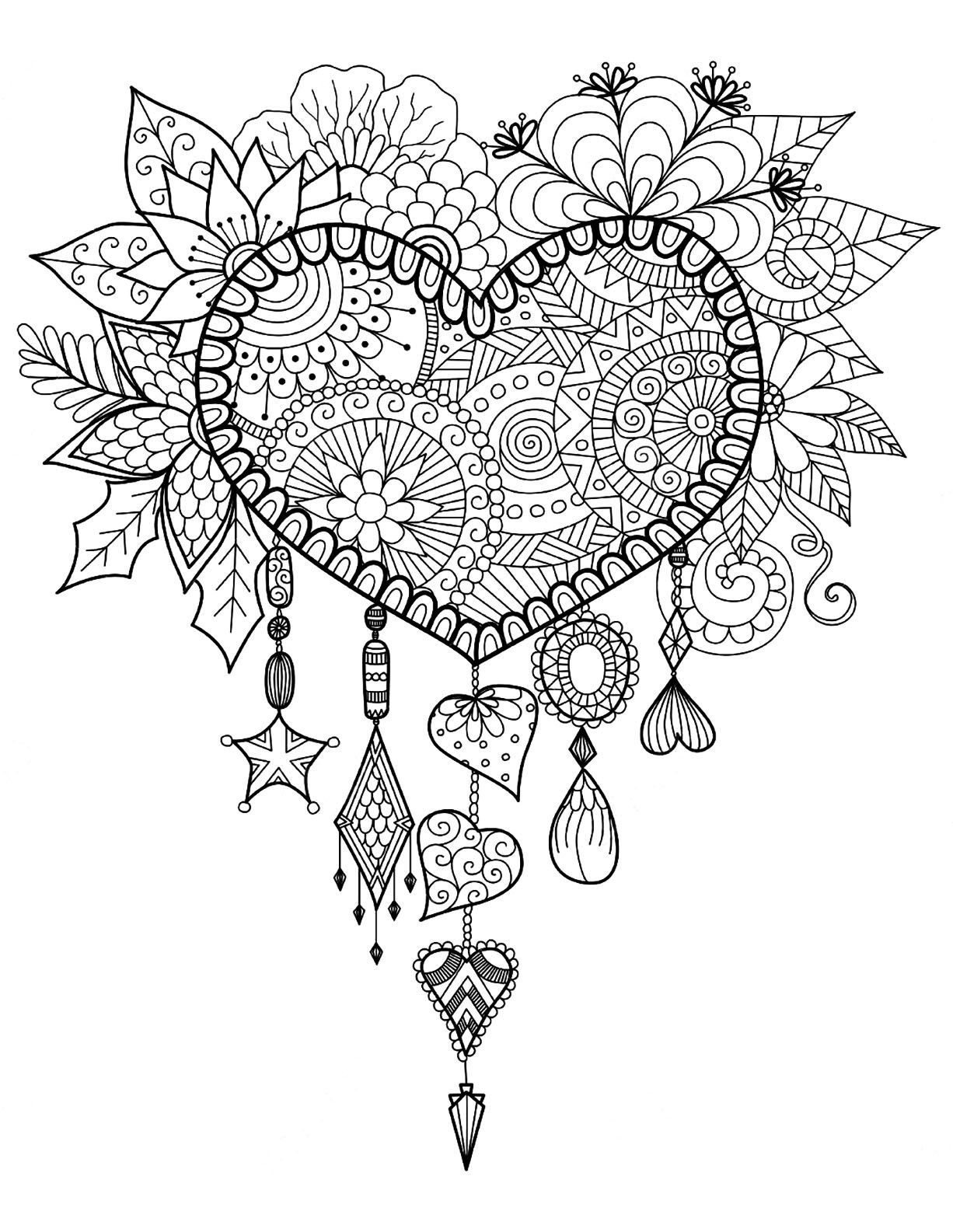 Heart Coloring Pages Just Color Coloring Pages For Adults Of