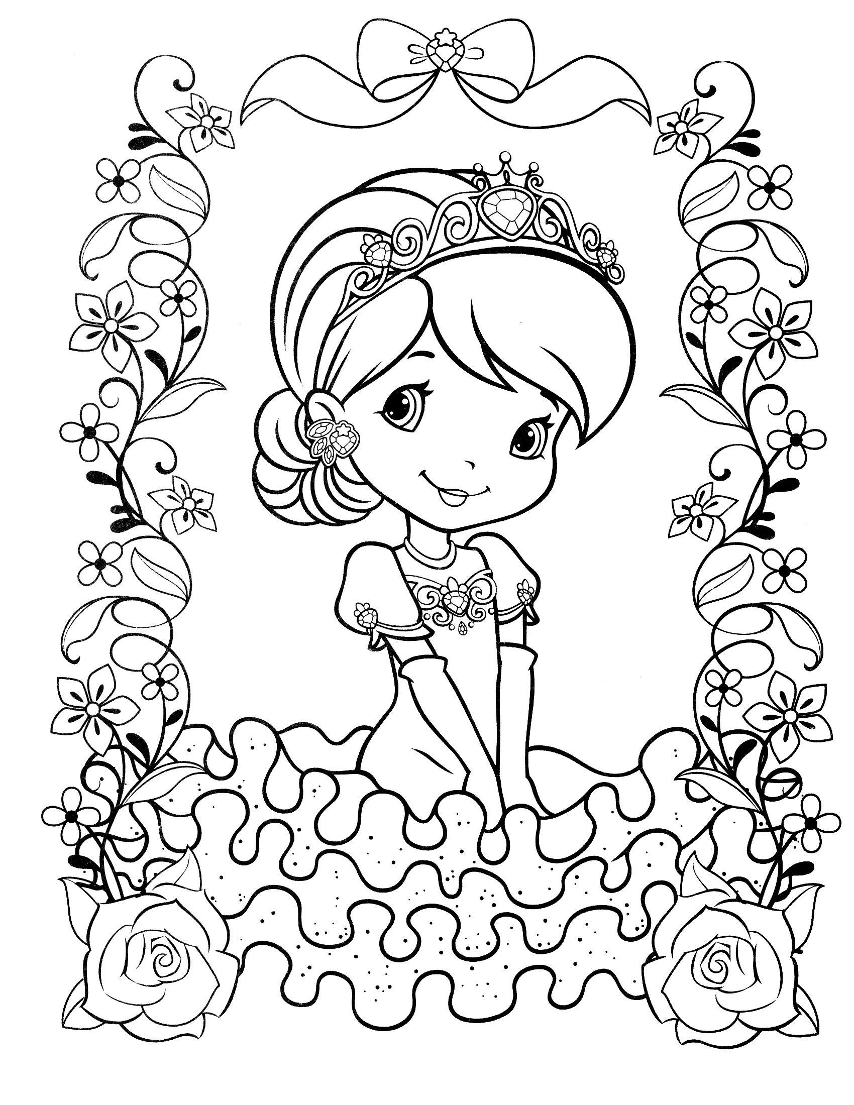Strawberry Shortcake Coloring Page | Strawberry Shortcake