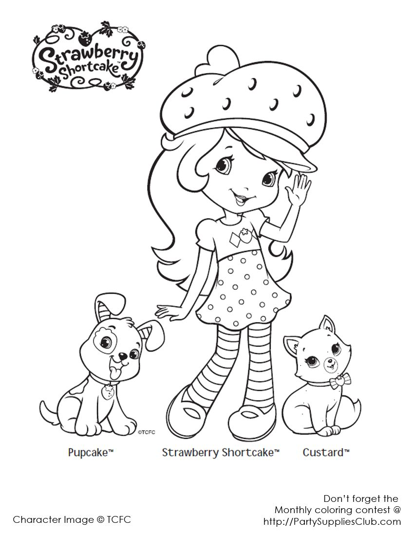Strawberry Shortcake Colouring Page | Coloring | Strawberry