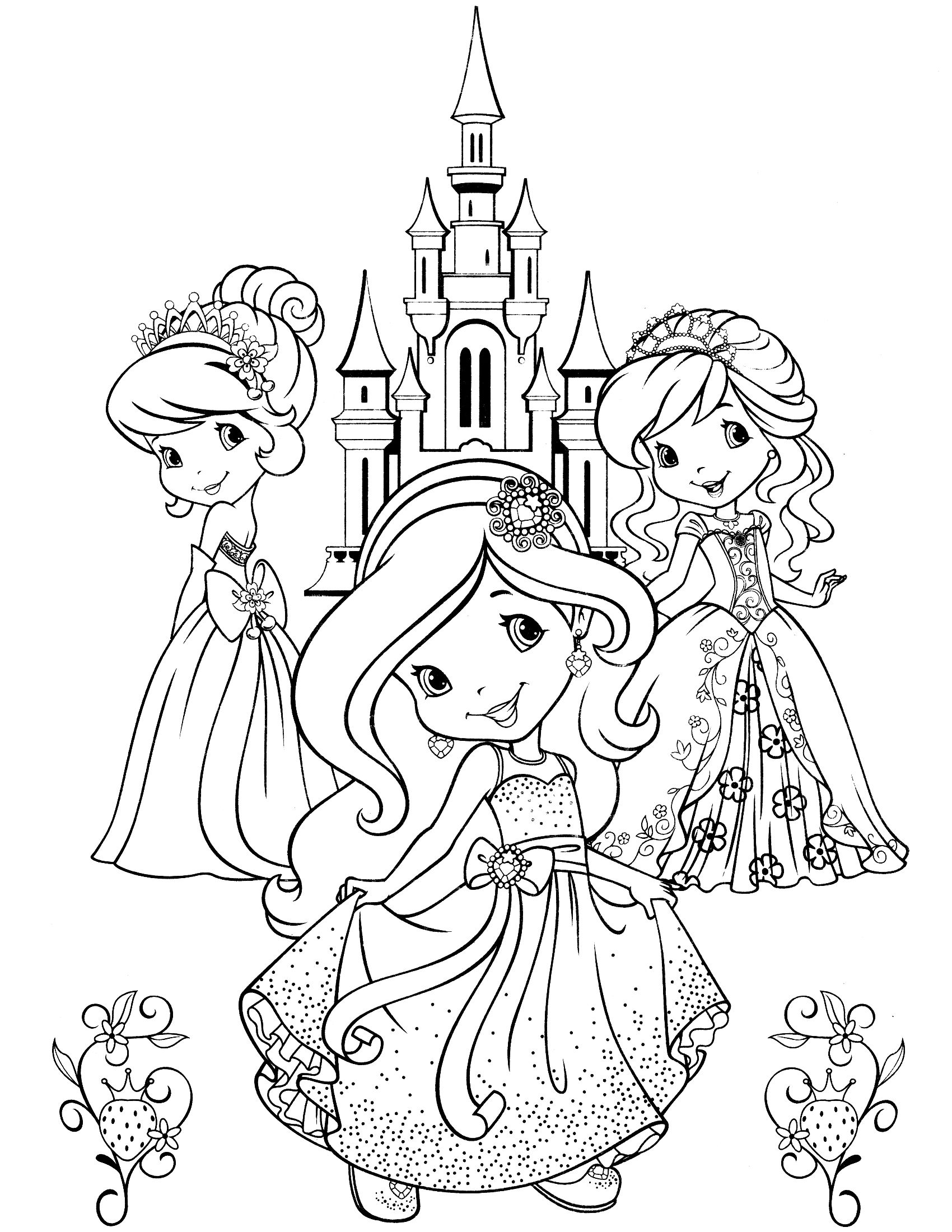 Strawberry Shortcake Coloring Page | Coloring Pages