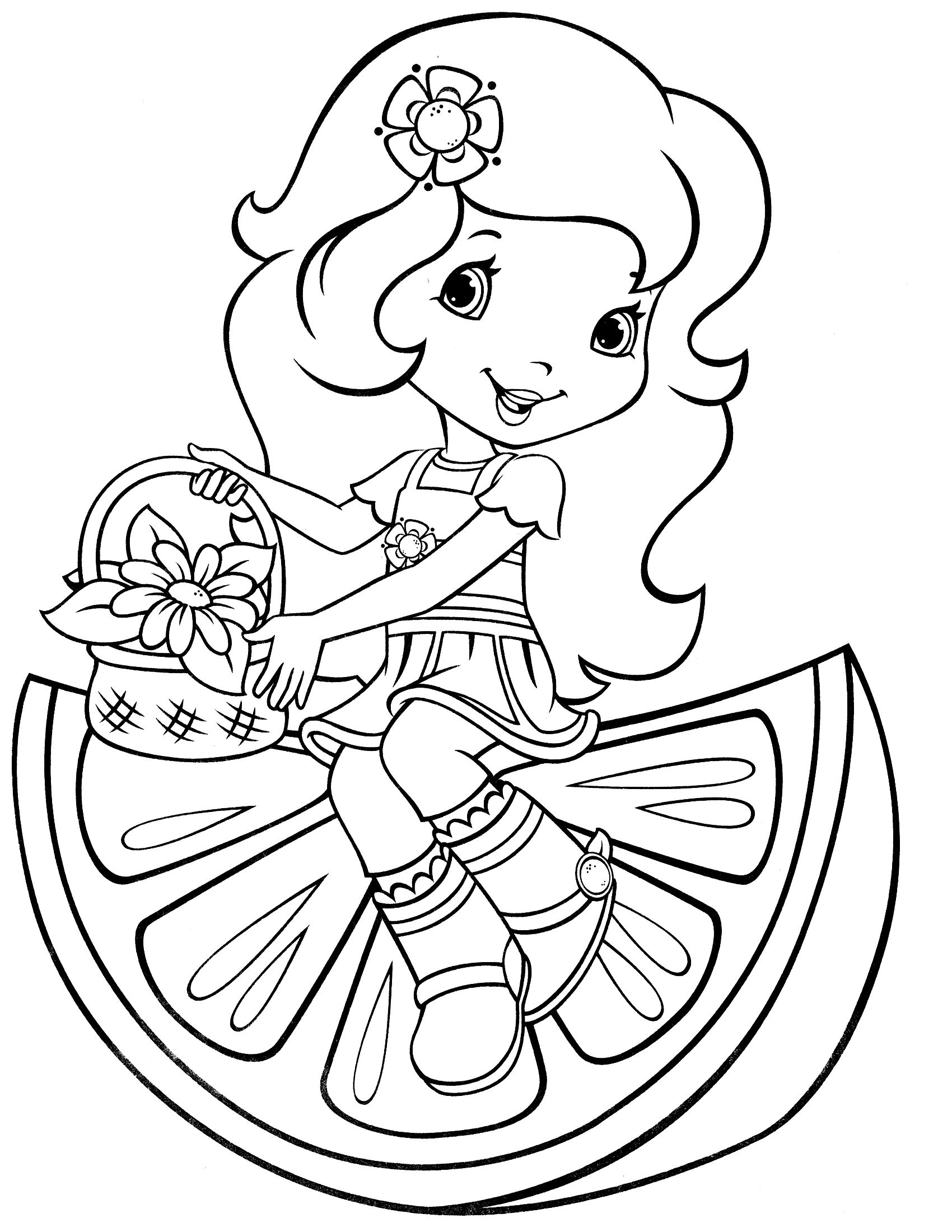 Strawberry Shortcake Coloring Page   Coloring   Coloring