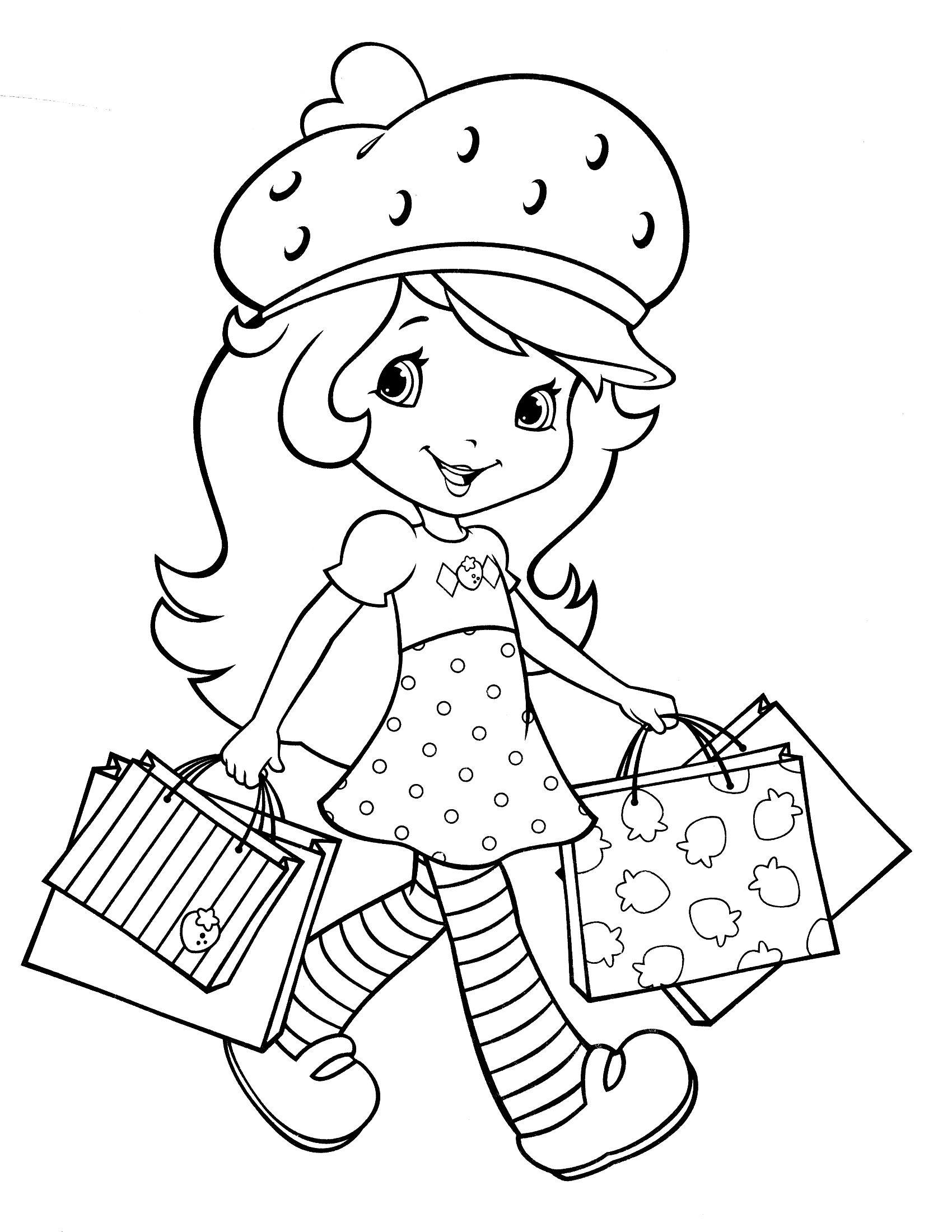 Strawberry Shortcake Coloring Page | Kids | Strawberry