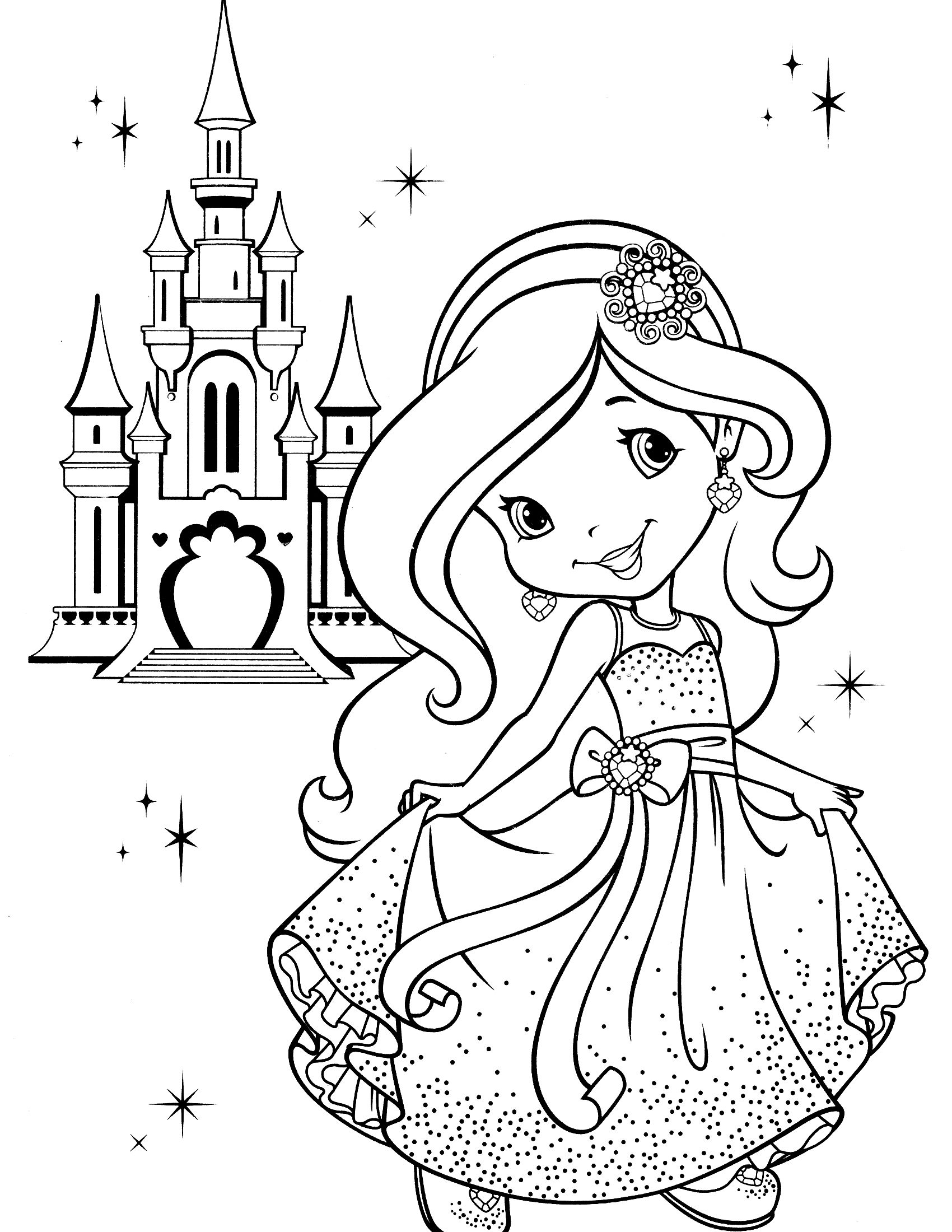 Strawberry Shortcake Coloring Page   Adult Coloring Book