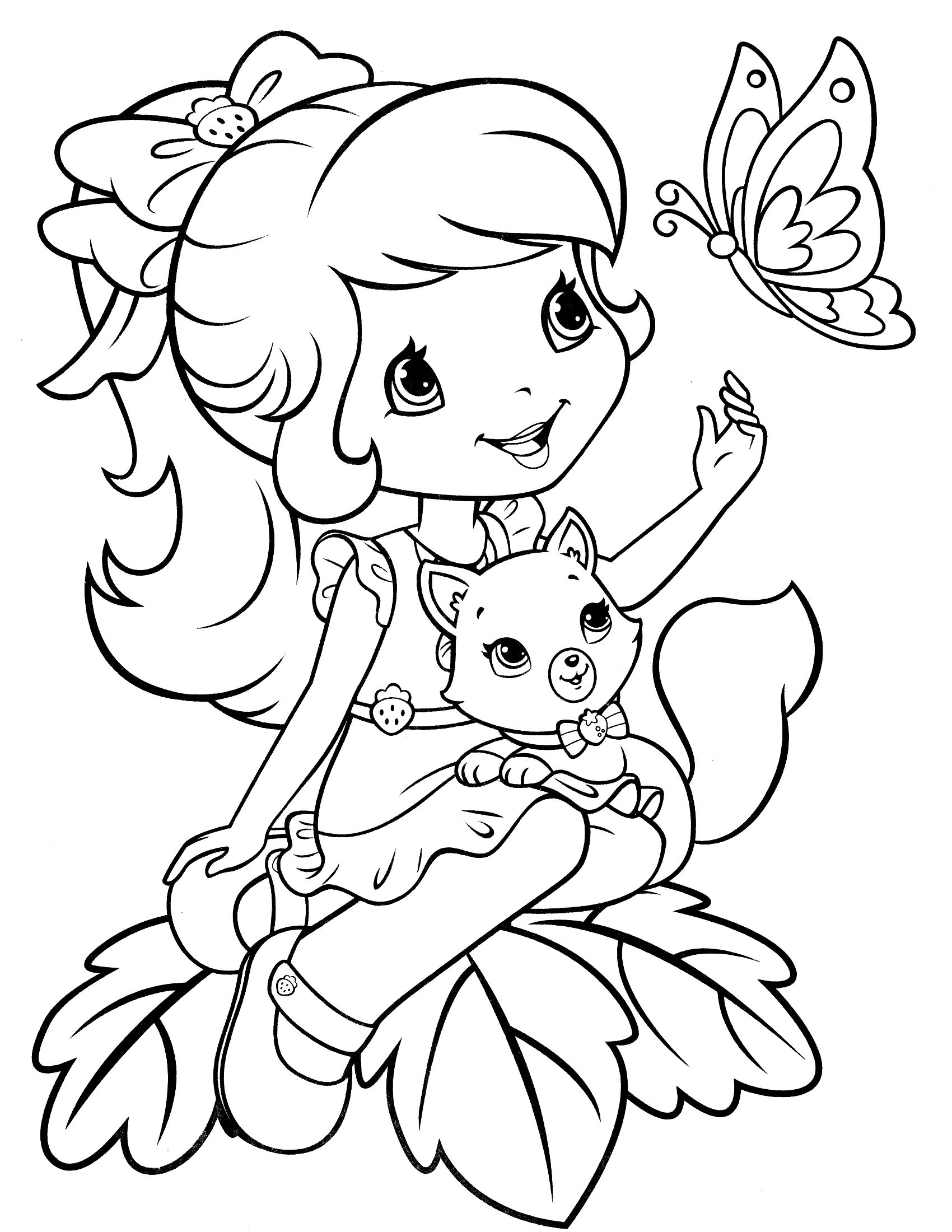 Strawberry Shortcake Coloring Page | Lisa Frank, Strawberry