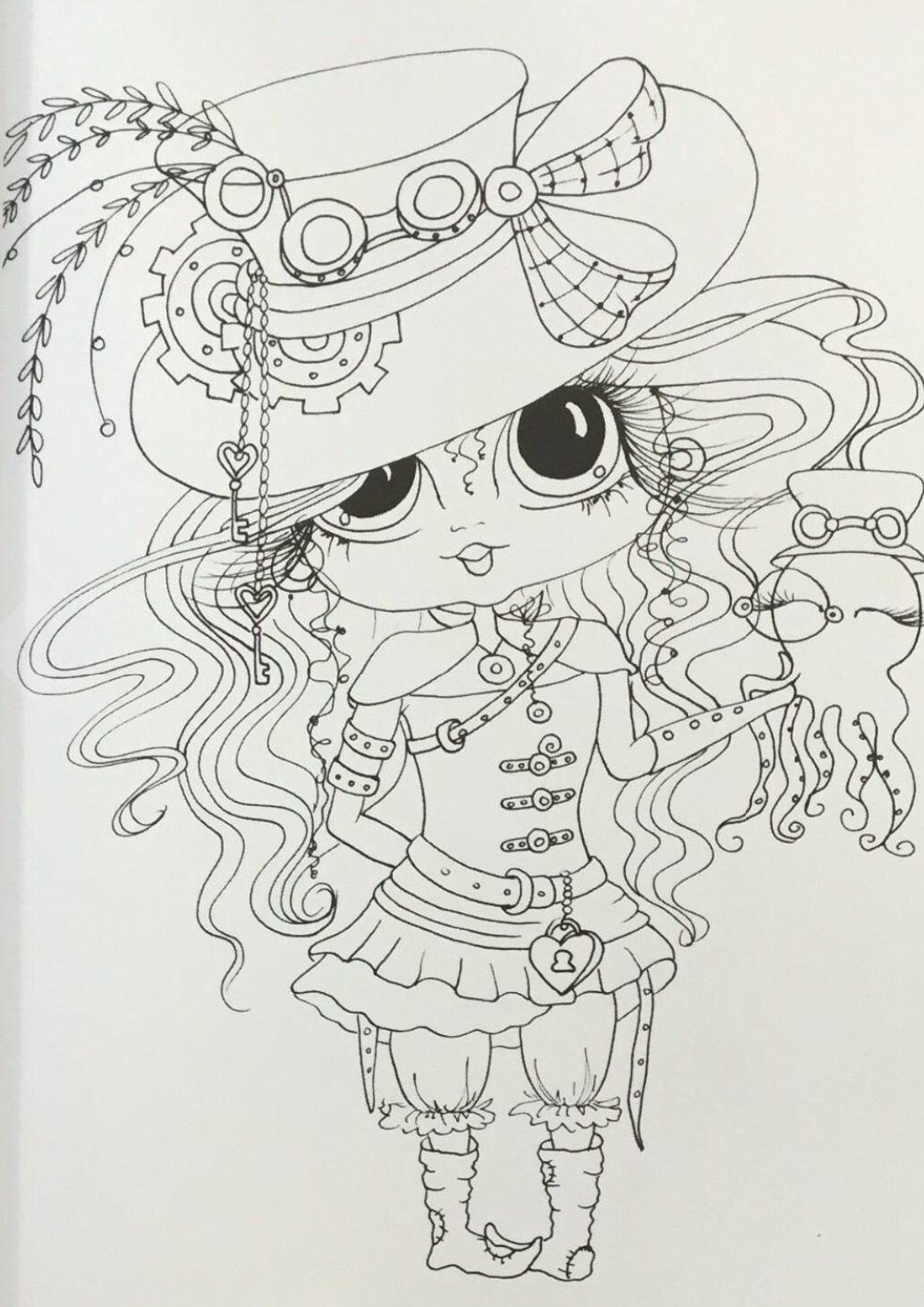 Pin By Nancy Long On Adult Coloring Of Big Eyed My Besties