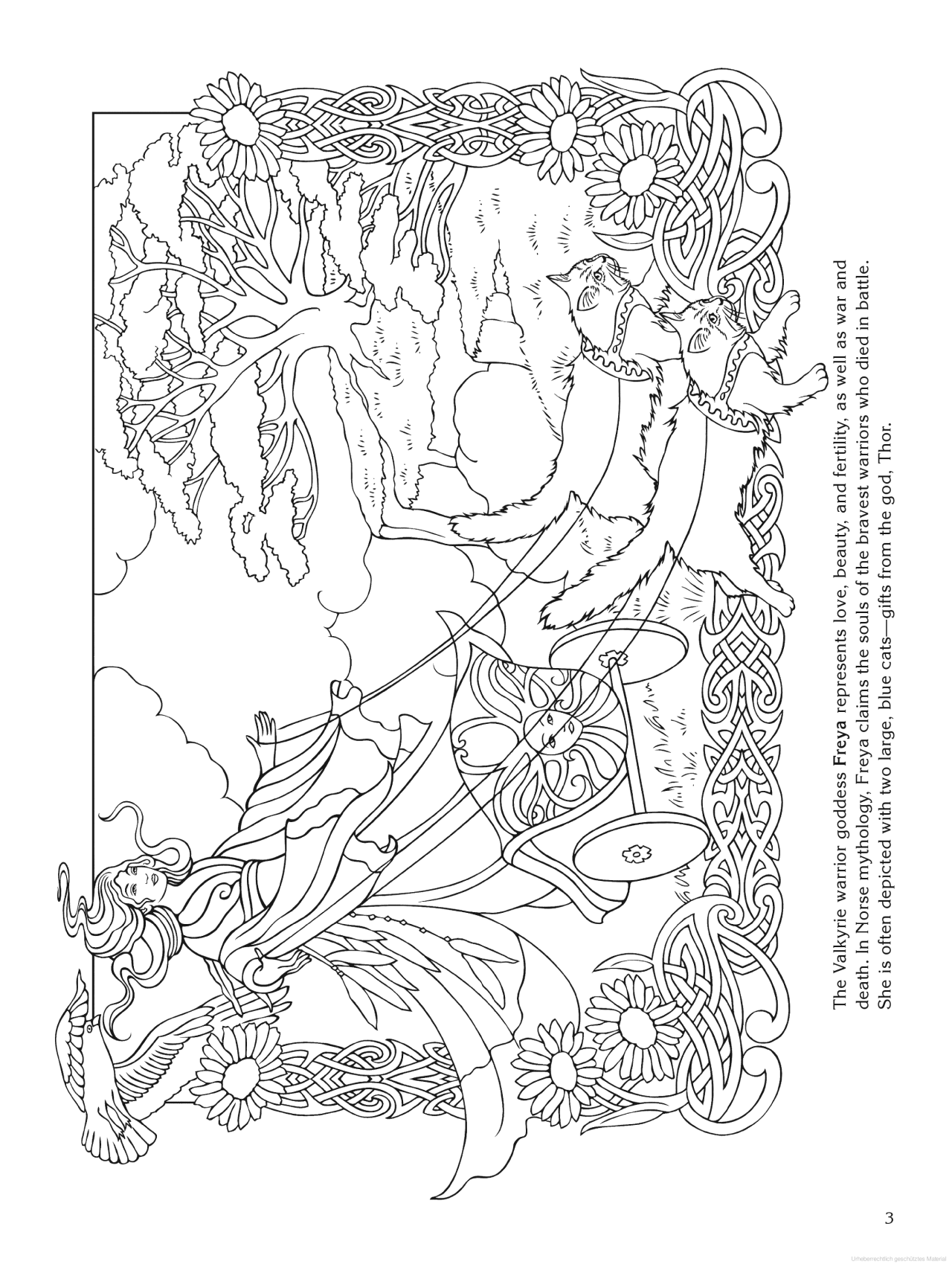 Goddess Coloring Page - Freya (norse) | Coloring Pages