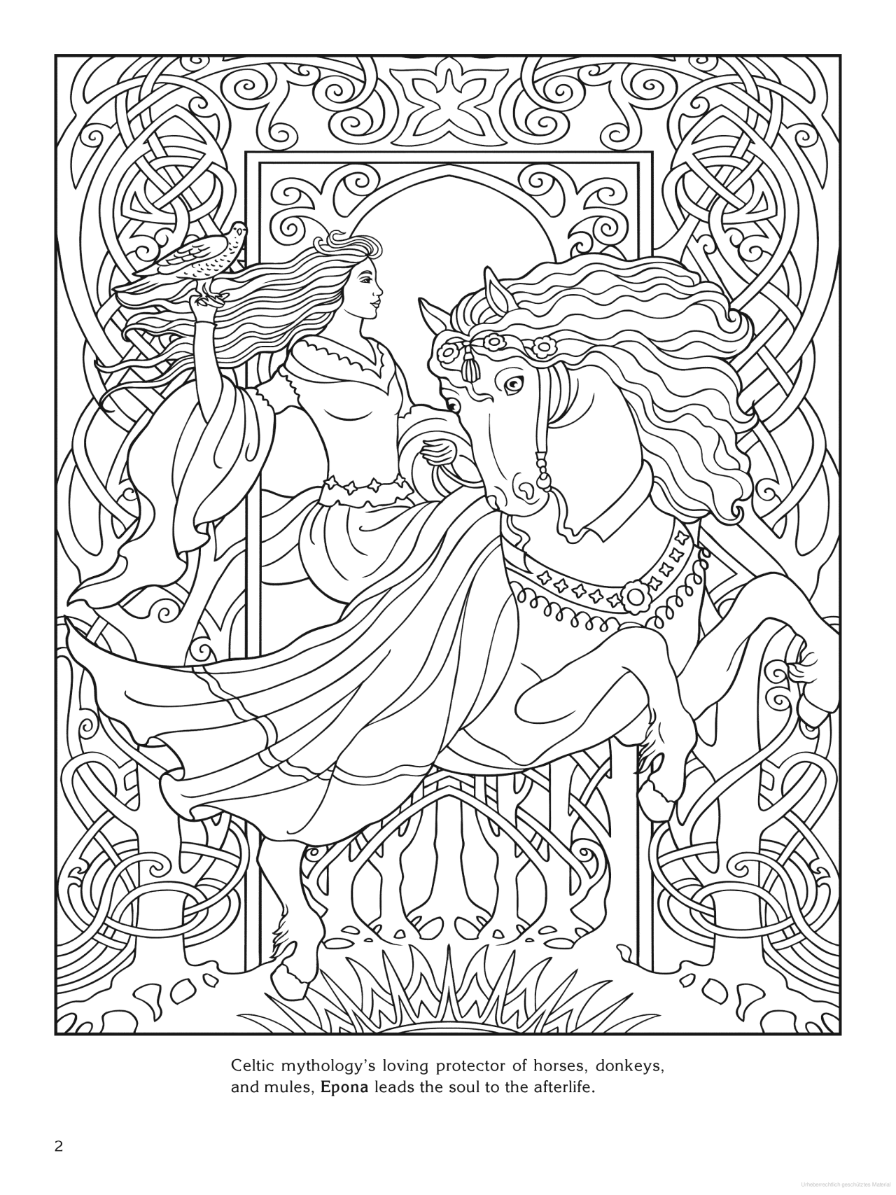 Goddess Coloring Page - Epona (celtic) | Color It | Cool