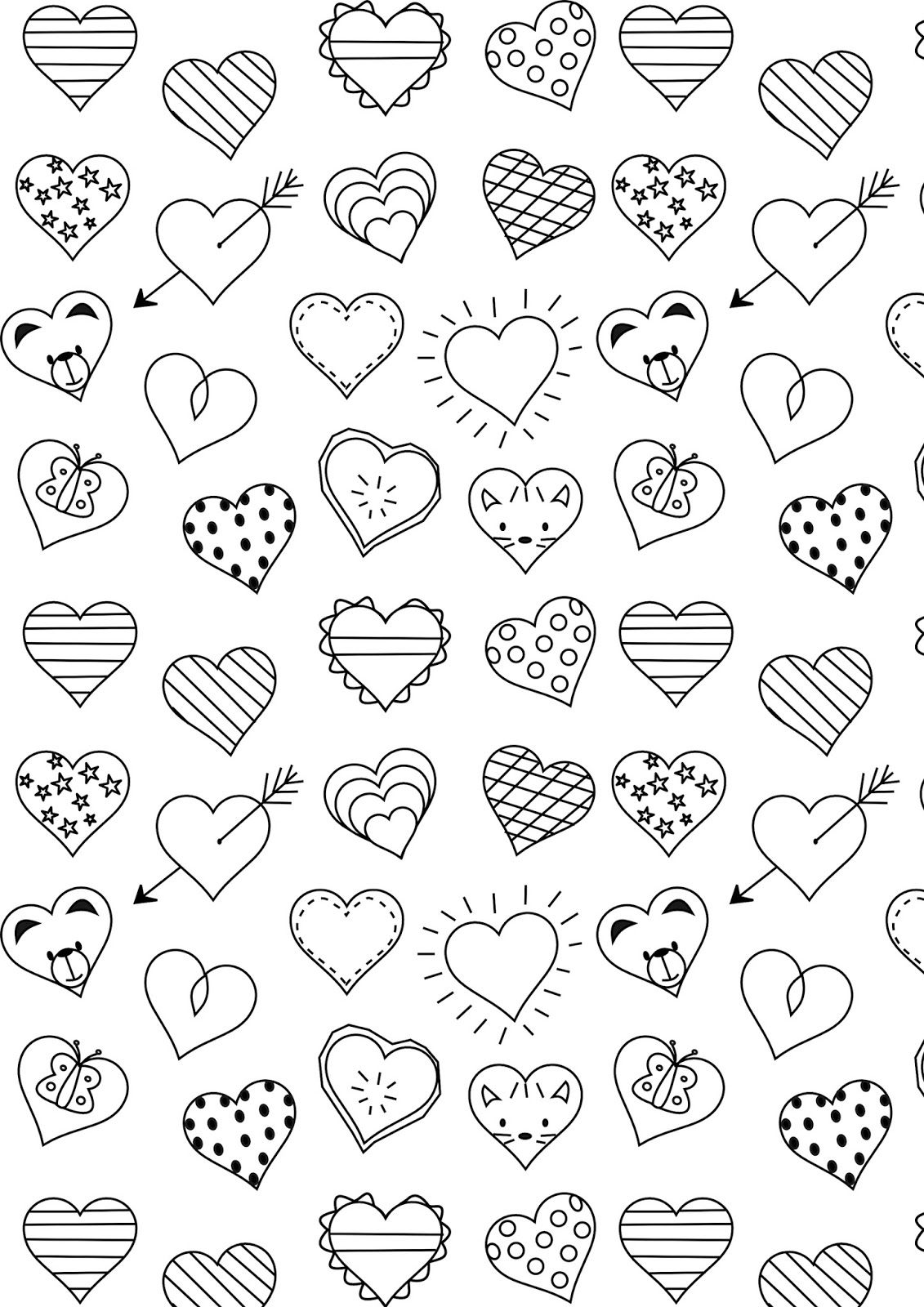 Spring Coloring   Birthday Cakes   Heart Coloring Pages