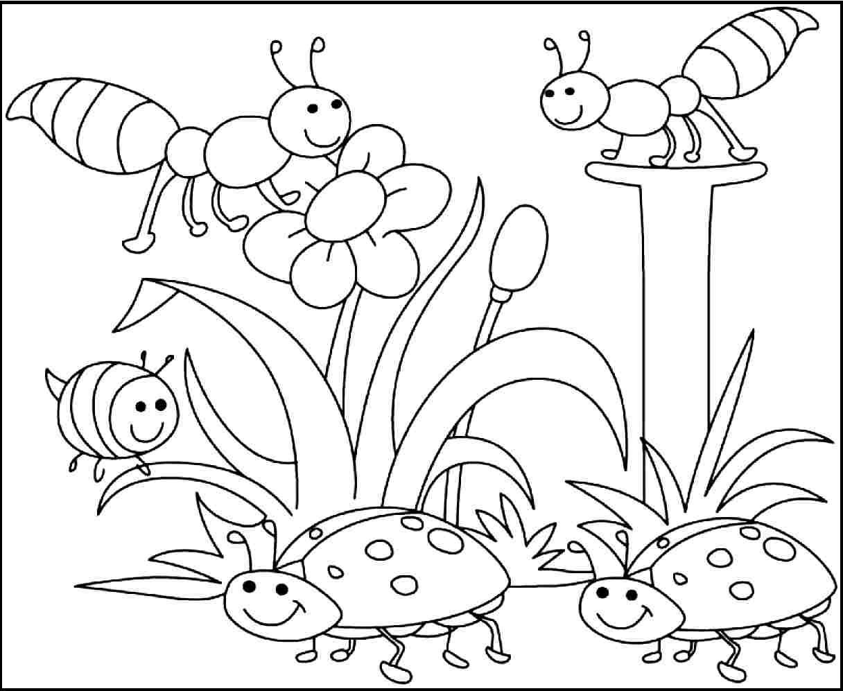 Free Printable Spring Coloring Pages   Projects To Try