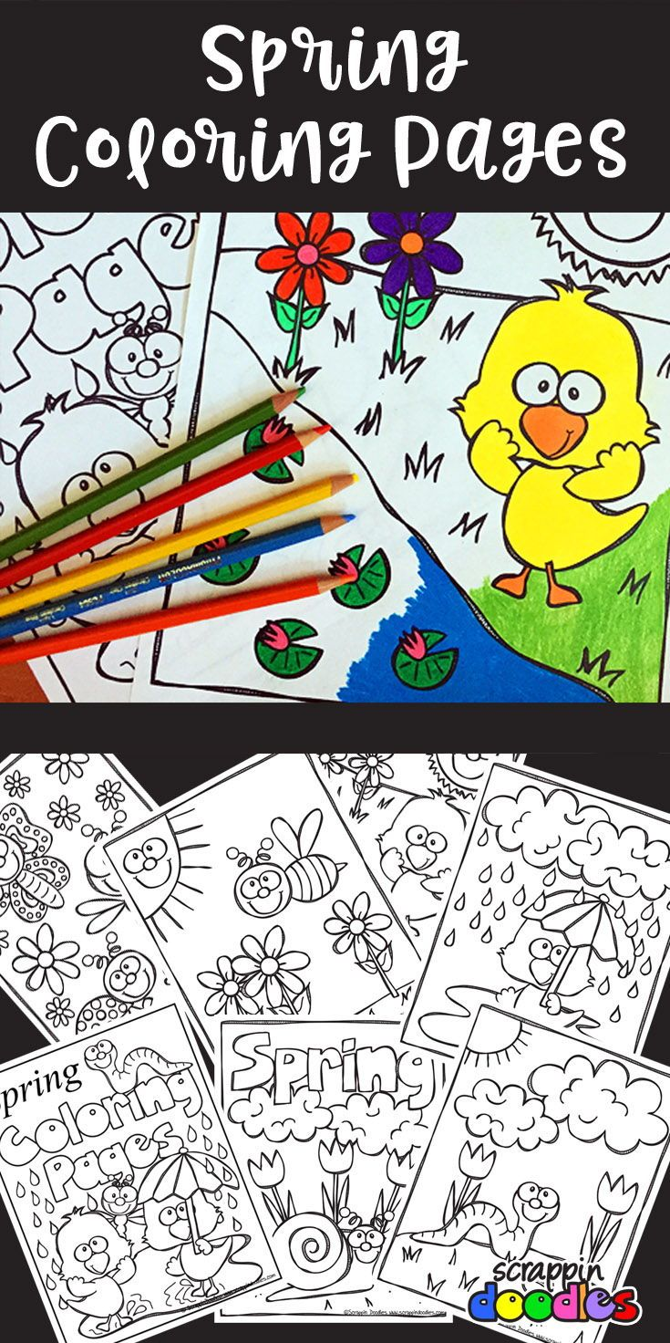 Spring Coloring Pages   Canadian Tpters, Their Posts