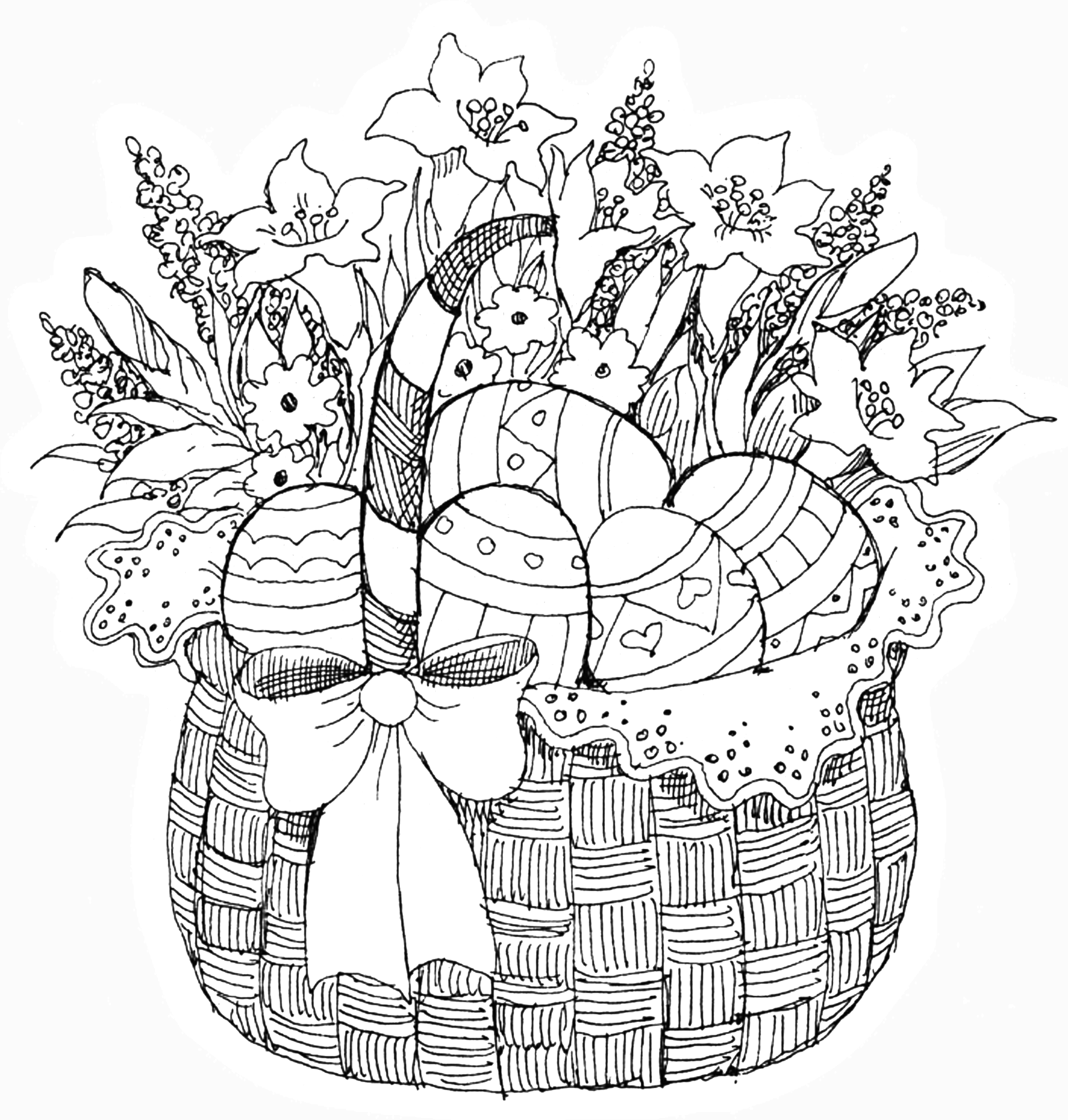 Pb - Easter Basket   Easter   Coloring Pages, Easter