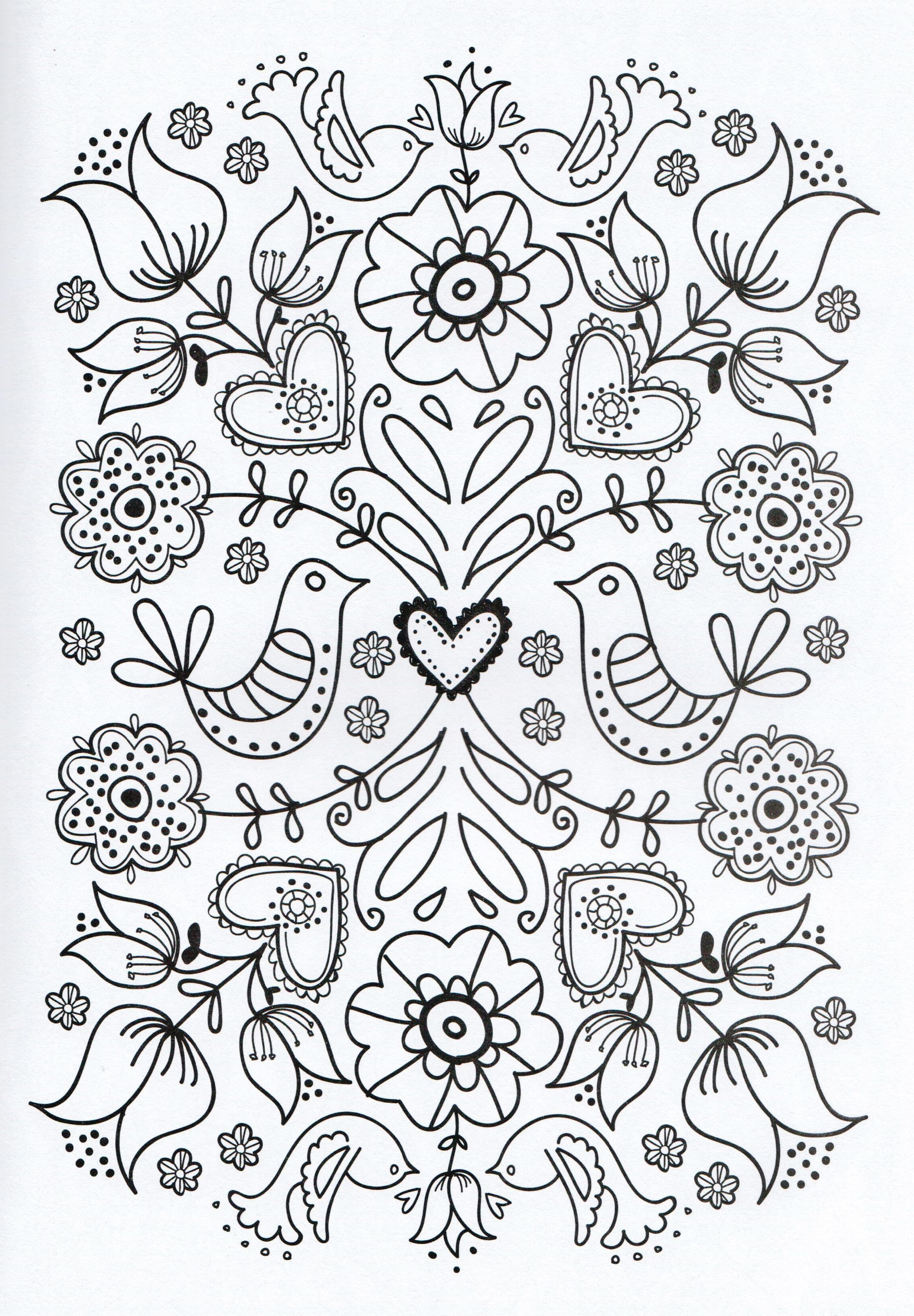 Adult Coloring Page   Dibujos Para Colorear//coloring Pages