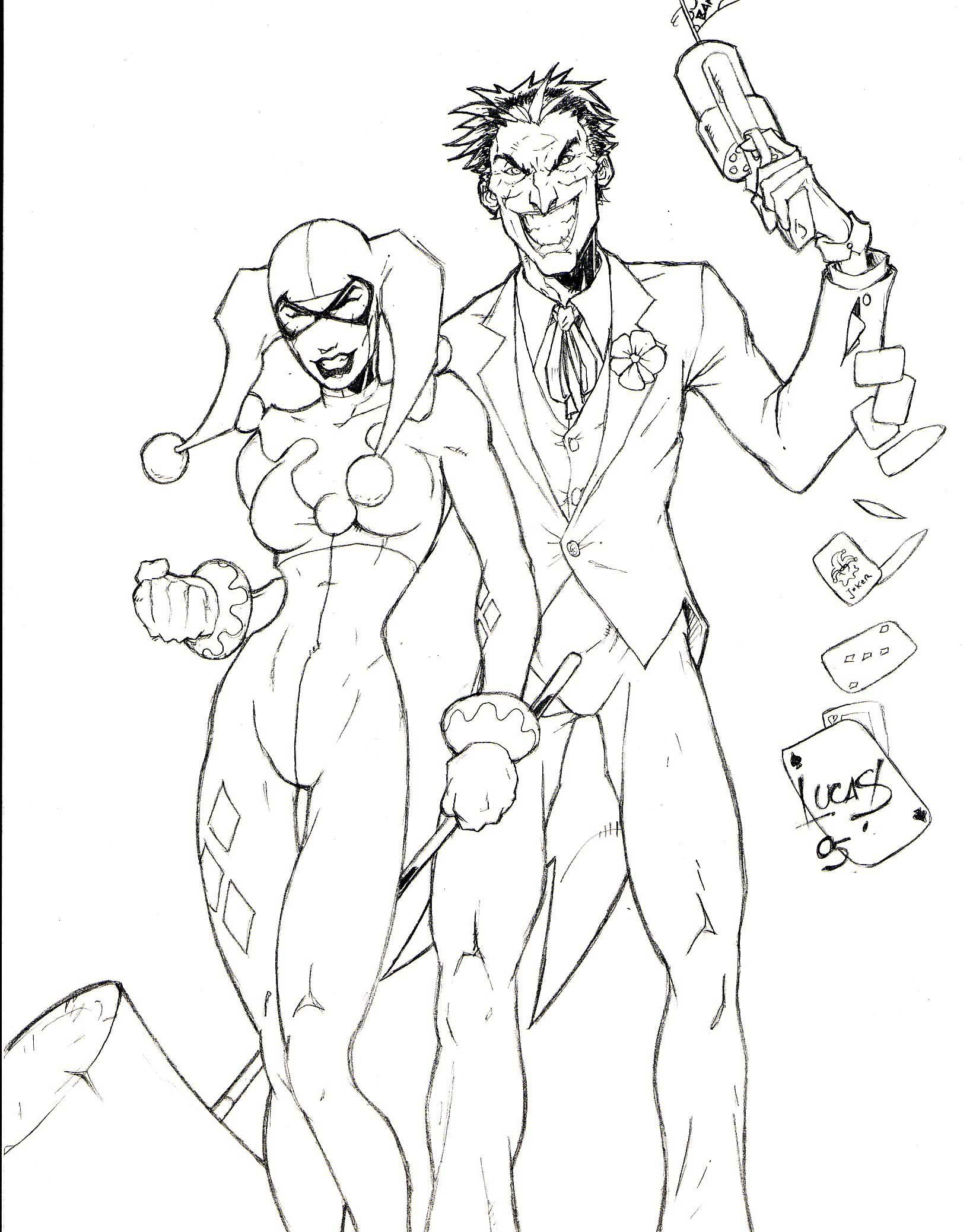 Harley Quinn Coloring Pages To Download And Print For Free