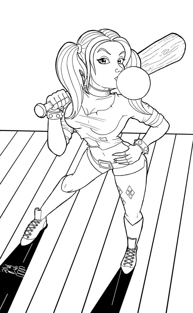 Harley Quinn Coloring Pages Printable | Coloring Pages