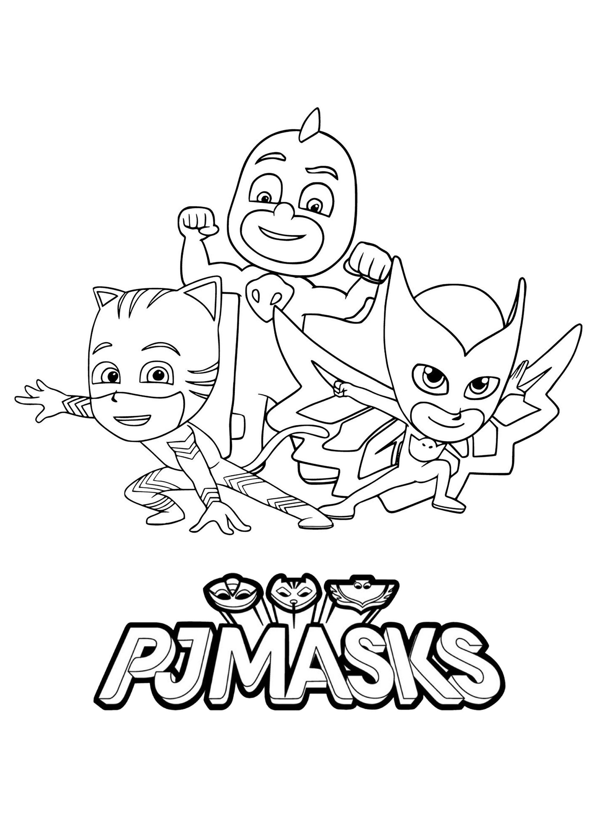 Pj Masks Coloring Page With Few Details For Kids | Jack's