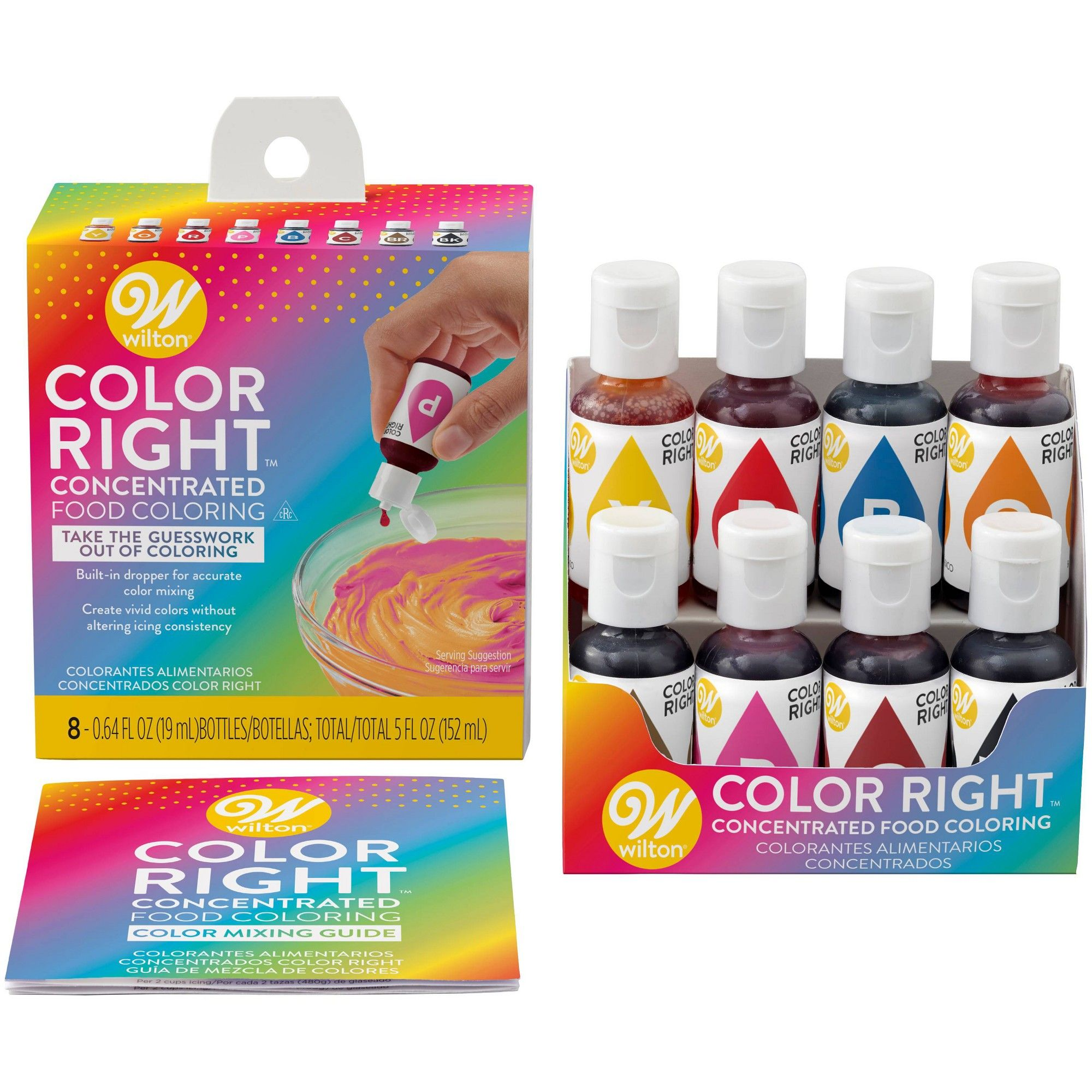 Wilton 5oz Color Right Concentrated Food Coloring Set, Multi