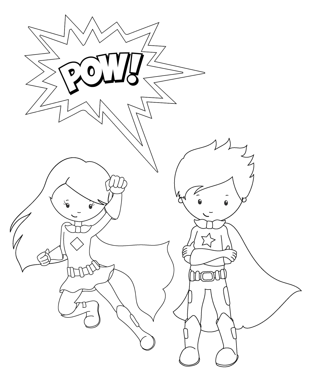 Free Printable Superhero Coloring Sheets For Kids   Work
