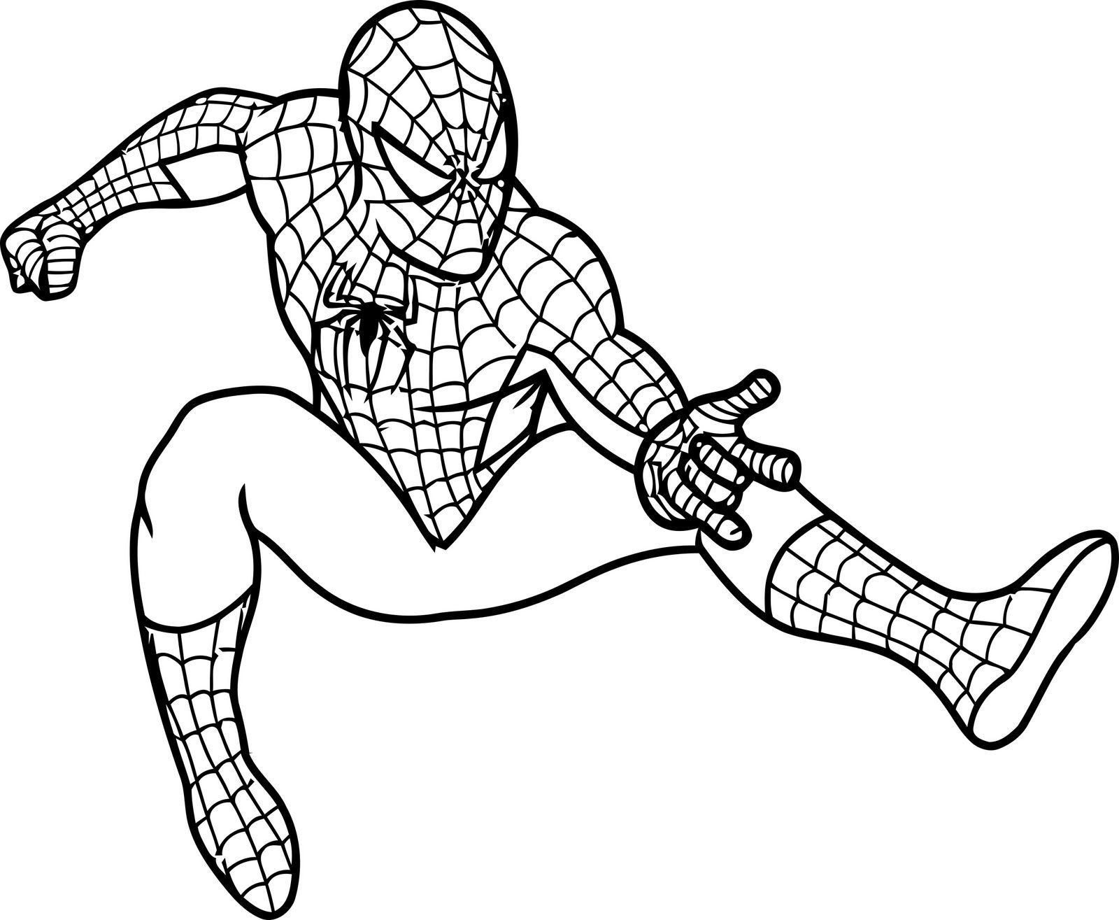 Beautiful Spiderman Coloring Pages Kids Gallery - New