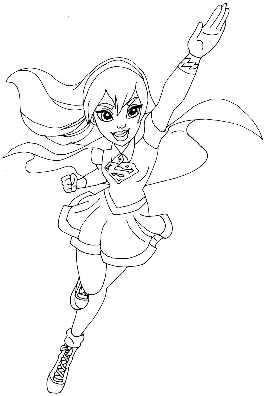 Free Printable Super Hero High Coloring Page For Supergirl