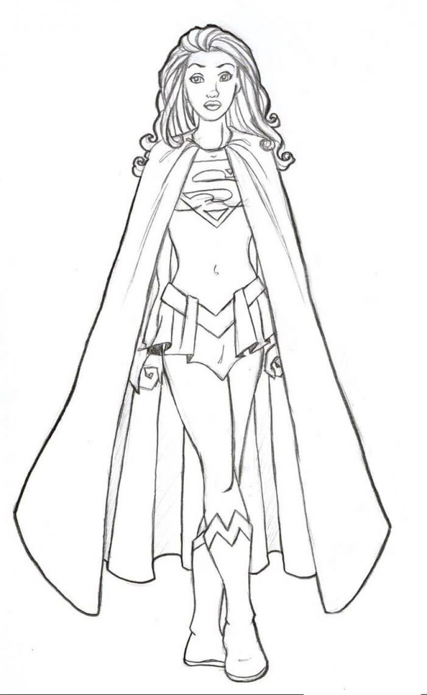 Supergirl Coloring Pages   Super Hero Reading   Superhero