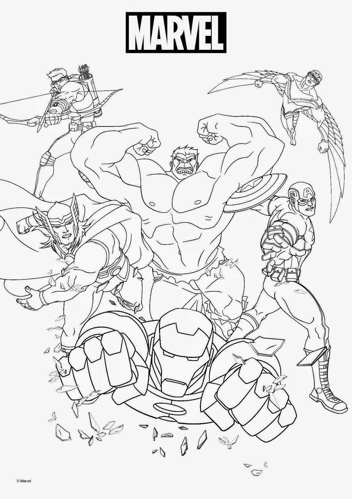 Marvel Coloring Pages | Superheroes | Marvel Coloring
