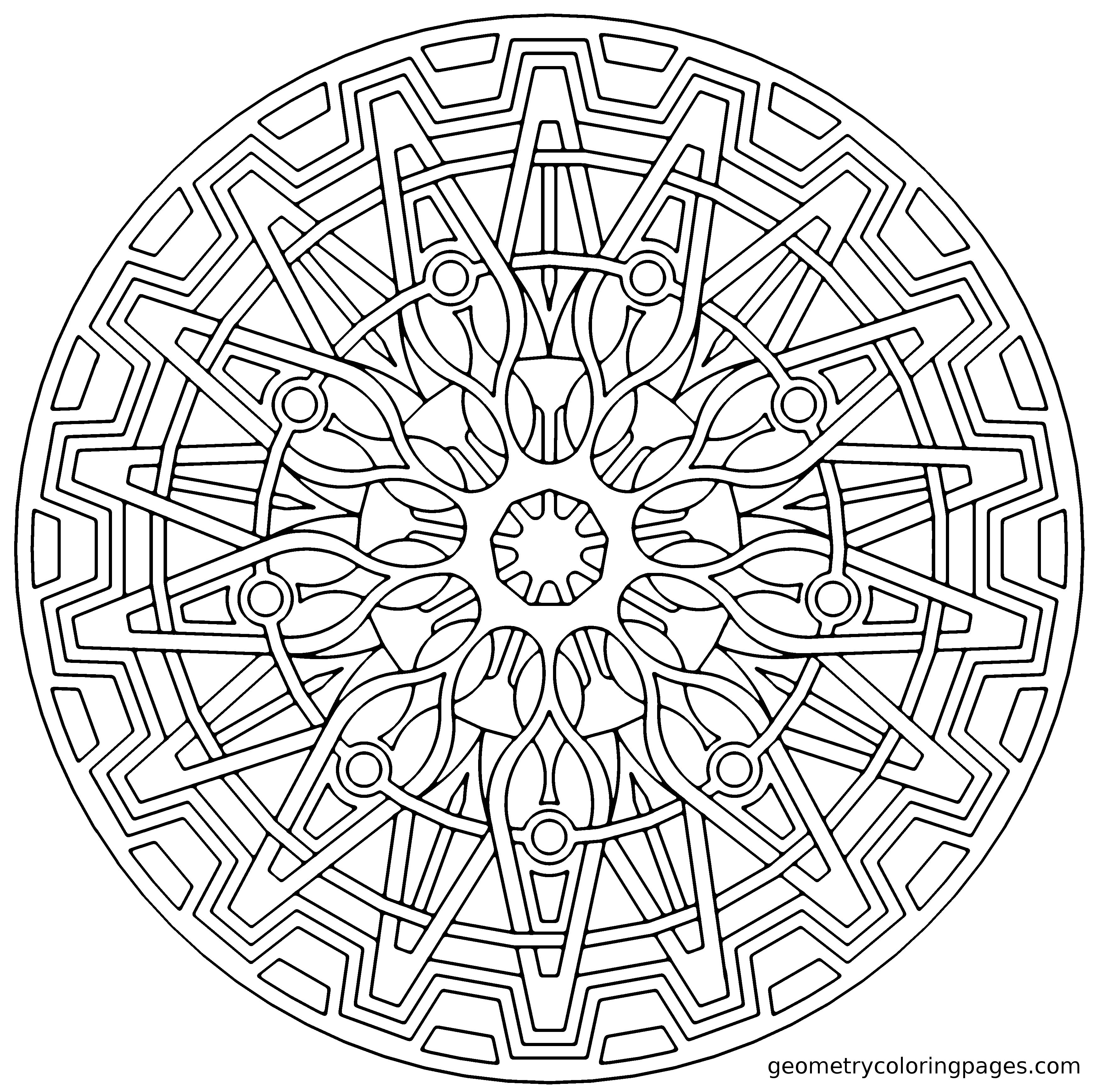 Origin Cog | Geometric Coloring Pages, Mandala Coloring