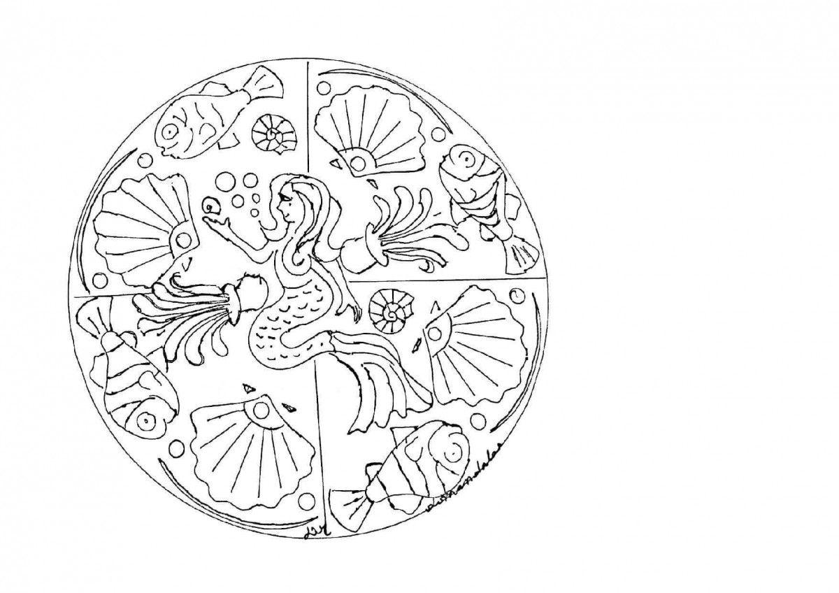 Princess Mandala Coloring Page   Color Pages   Mandala