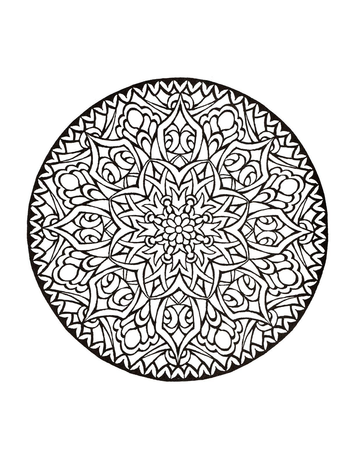 Mystical Mandala Coloring Book | To Print | Mandala Coloring
