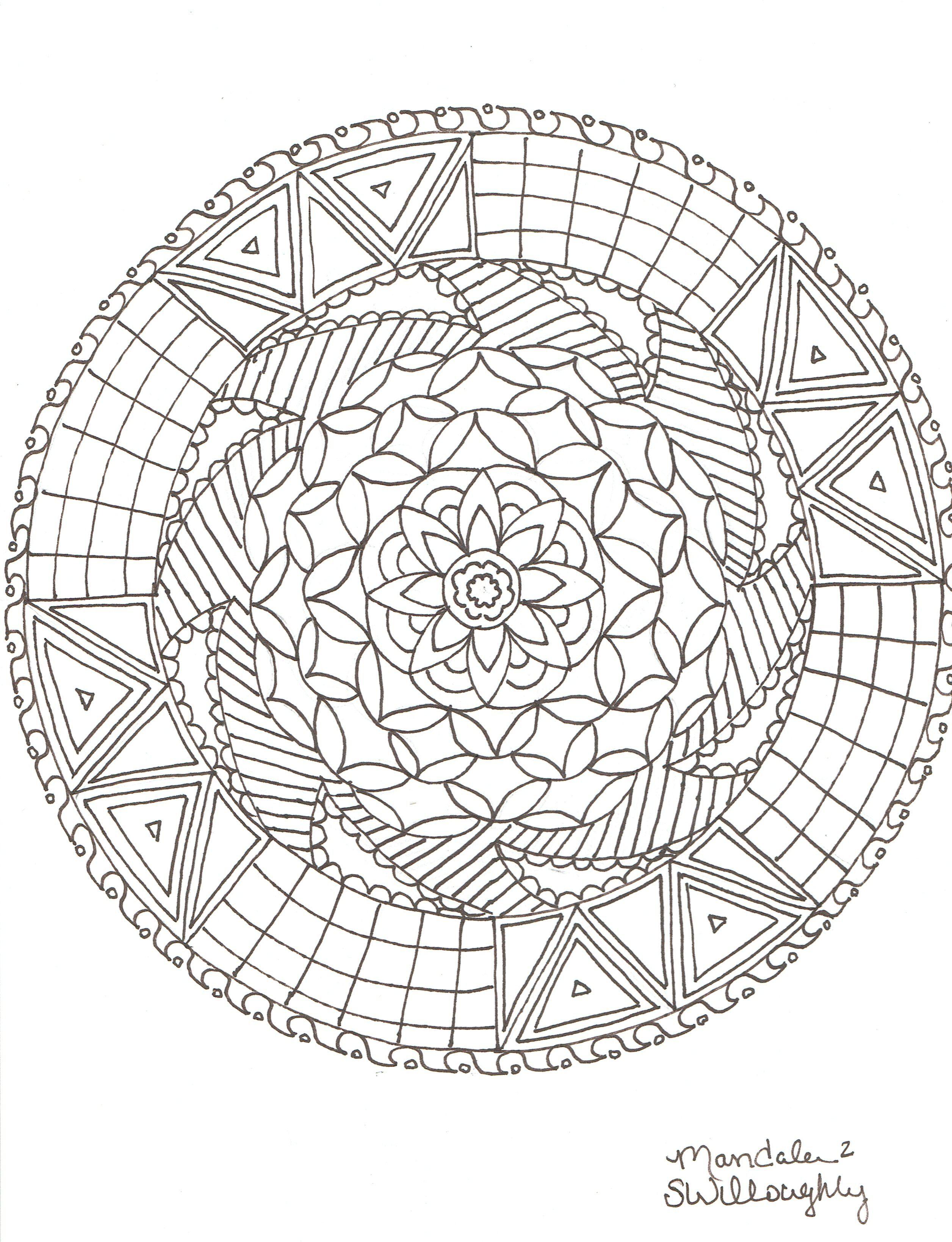 Mandala Coloring Page By Sw   Mandalas   Mandala Coloring