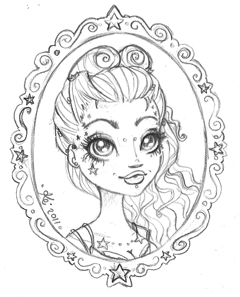 Girl Coloring Pages � Coloringrocks!   Cartoon Coloring