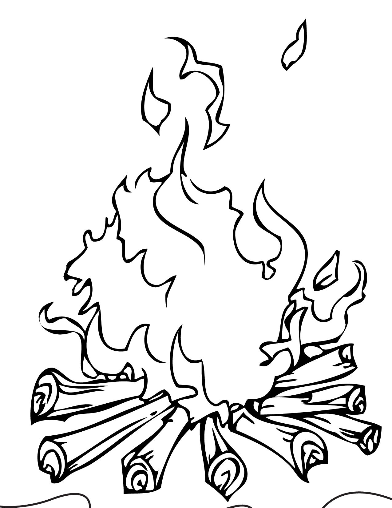 Fire Coloring Page Coloriage Id 14198 : Uncategorized