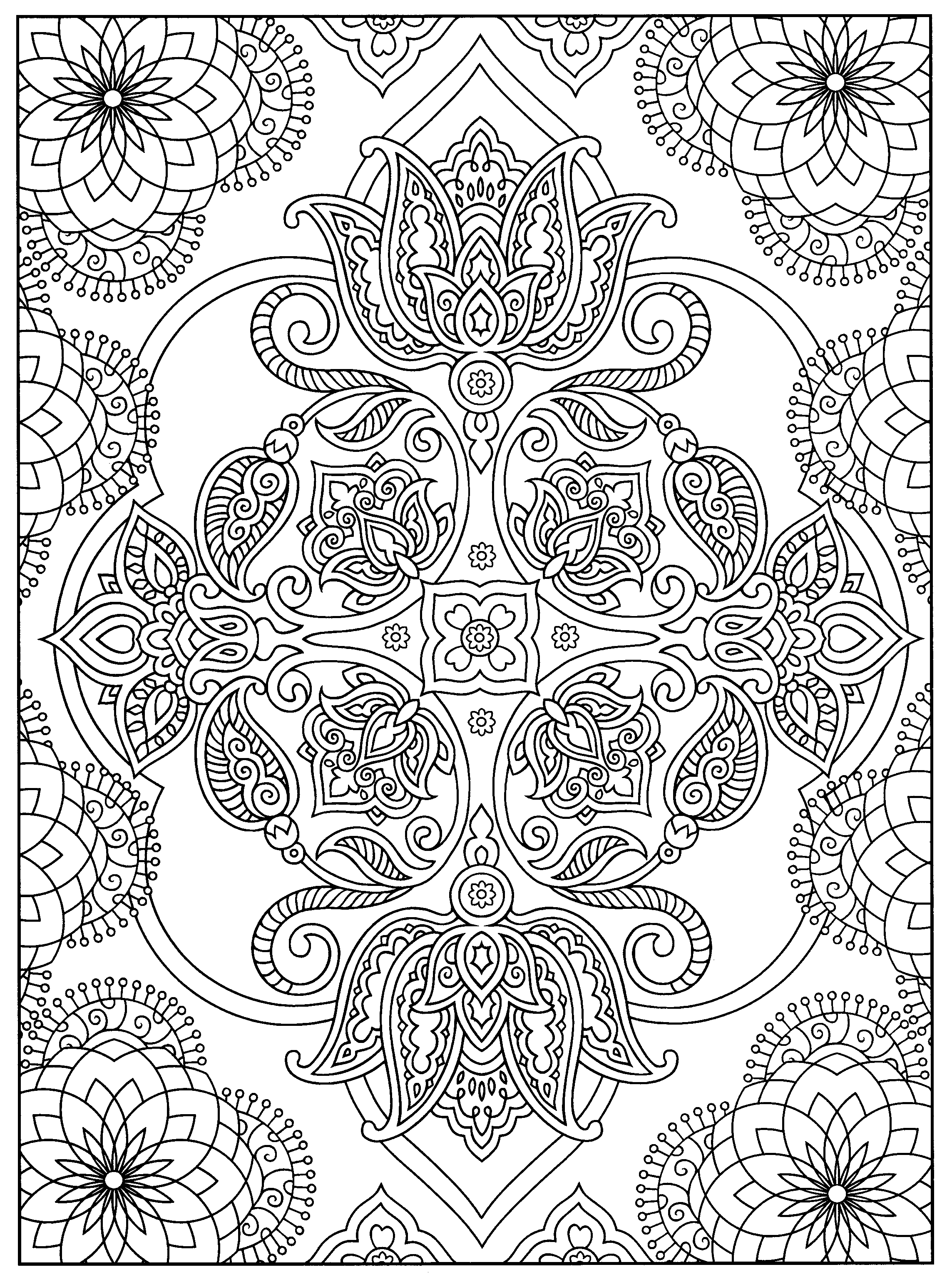 A Favorite From Mehndi Designs By Marty Noble   Coloring