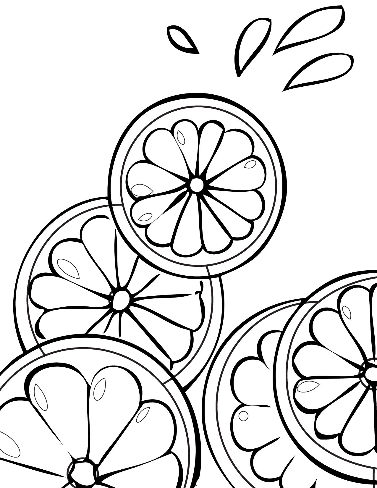 Free Printable Fruit Coloring Pages For Kids | Draw | Fruit