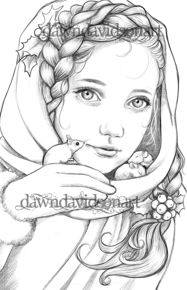 Keeping Them Warm, Adult Coloring Page, Fantasy Coloring