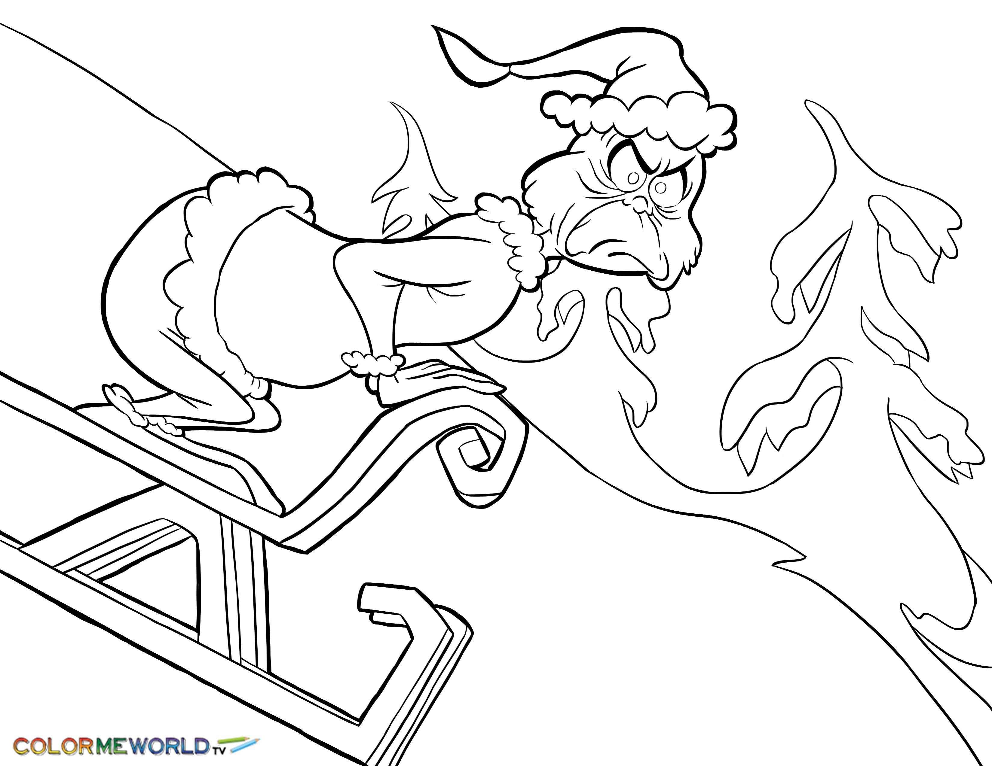Grinch Coloring Pages The Grinch Coloring Pages Free