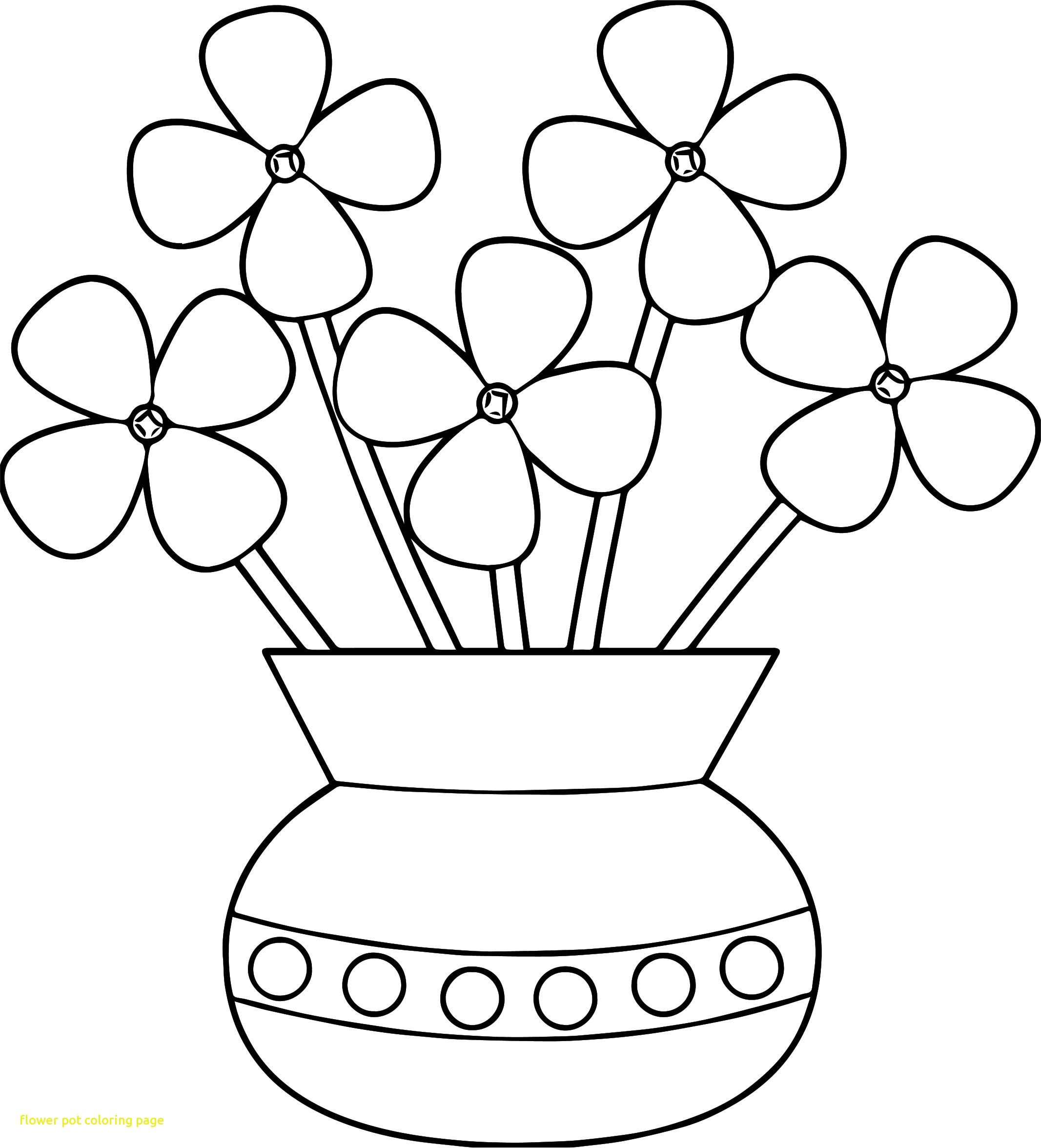 Flower Pot Coloring Page   Colorme Rocks   Flower Coloring