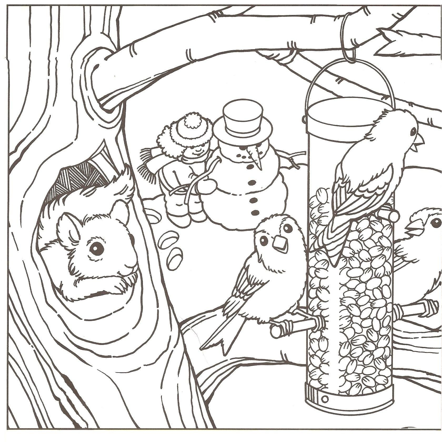 Scenery Coloring Pages New Winter Coloring Pages Printable