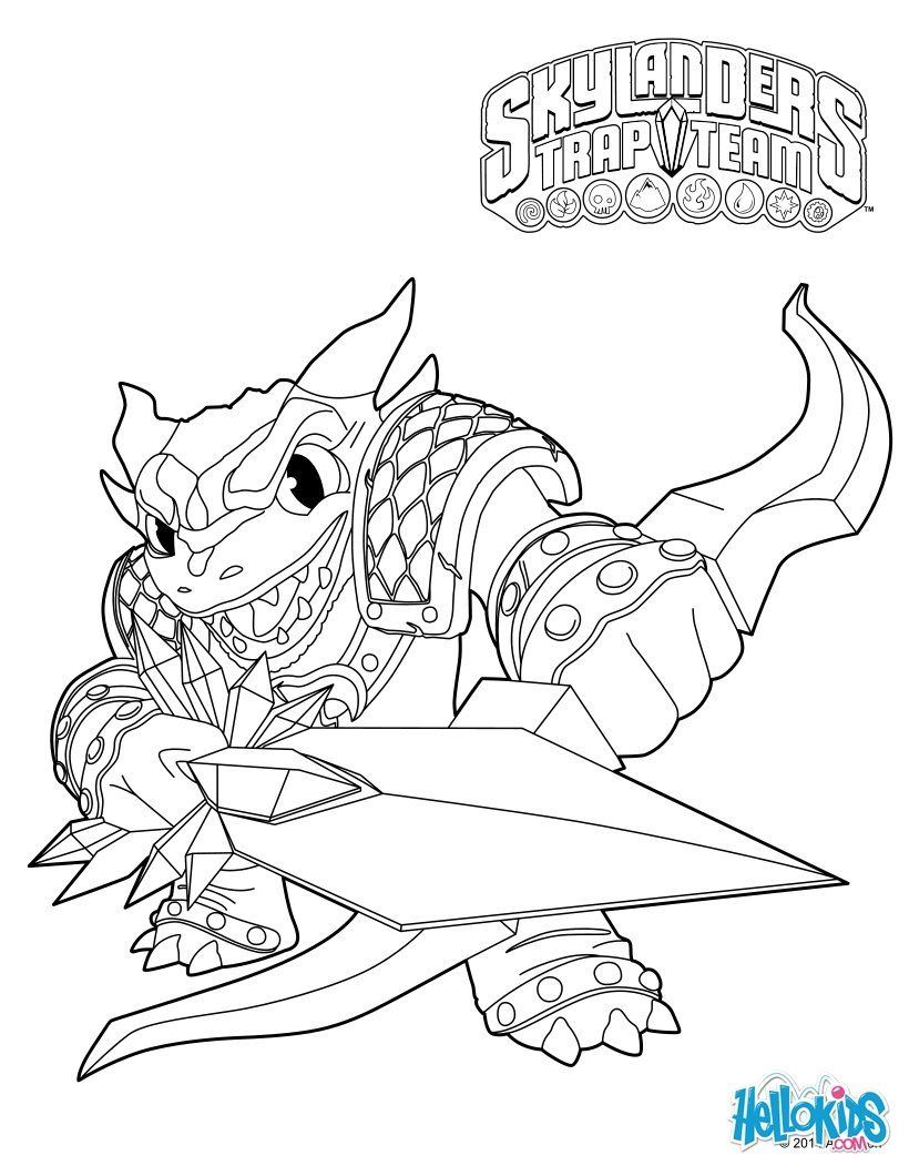 Skylanders Trap Team Coloring Pages - Snap Shot | Things For