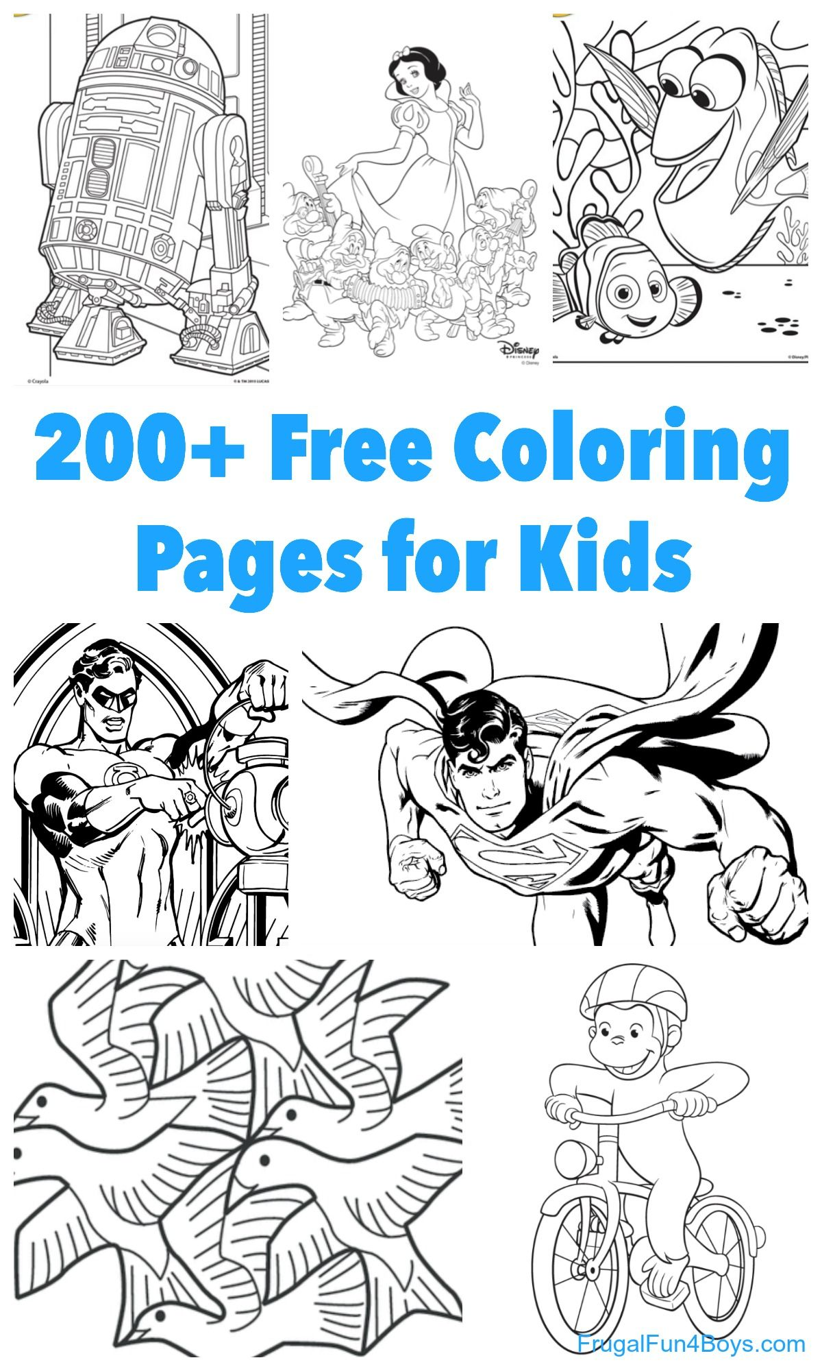 200+ Printable Coloring Pages For Kids | Fun Kids Activities