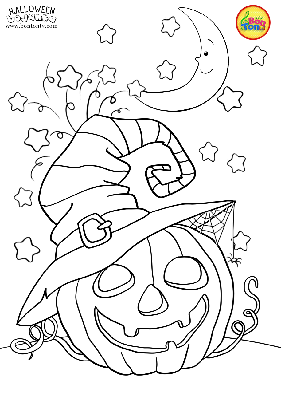 Halloween Coloring Pages For Kids - Free Preschool