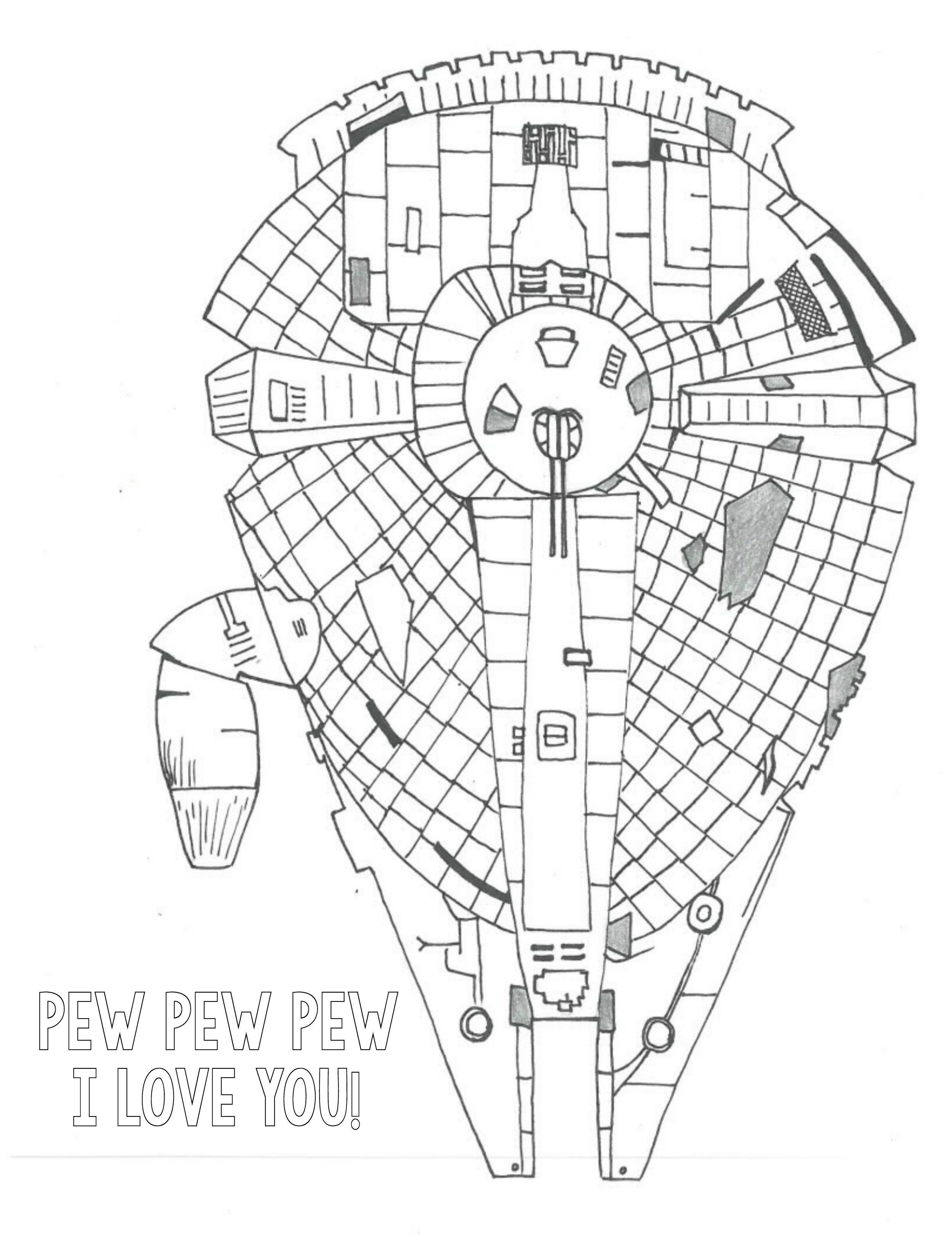 Spaceship Coloring Page Free Download | Crafts | Valentine