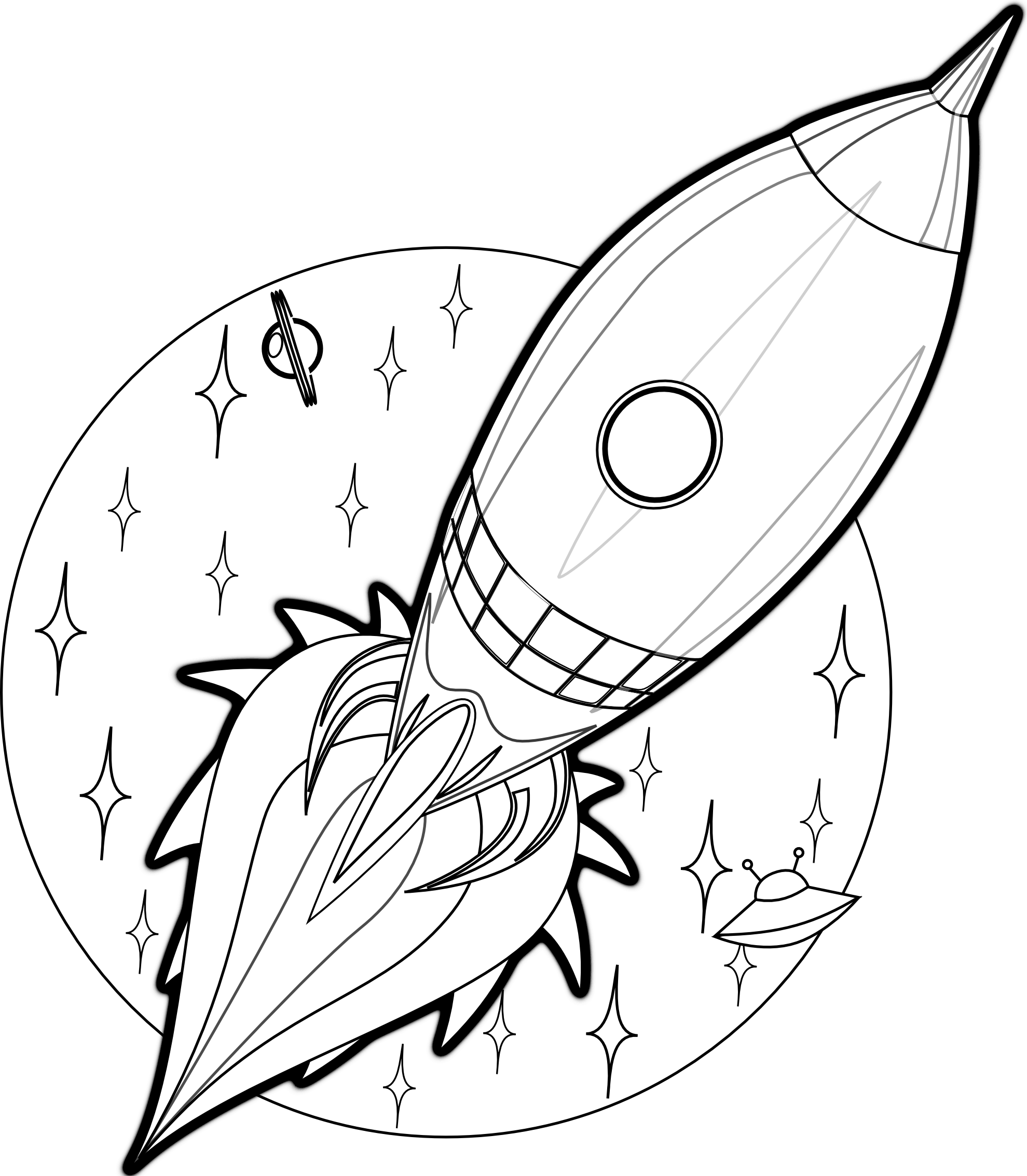 Free Printable Rocket Ship Coloring Pages For Kids   Vbs