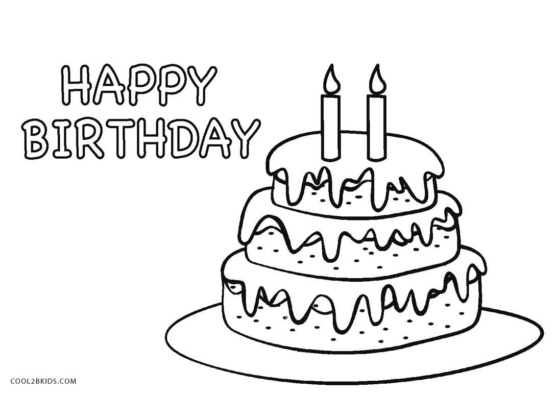 30+ Marvelous Photo Of Birthday Cake Coloring Pages