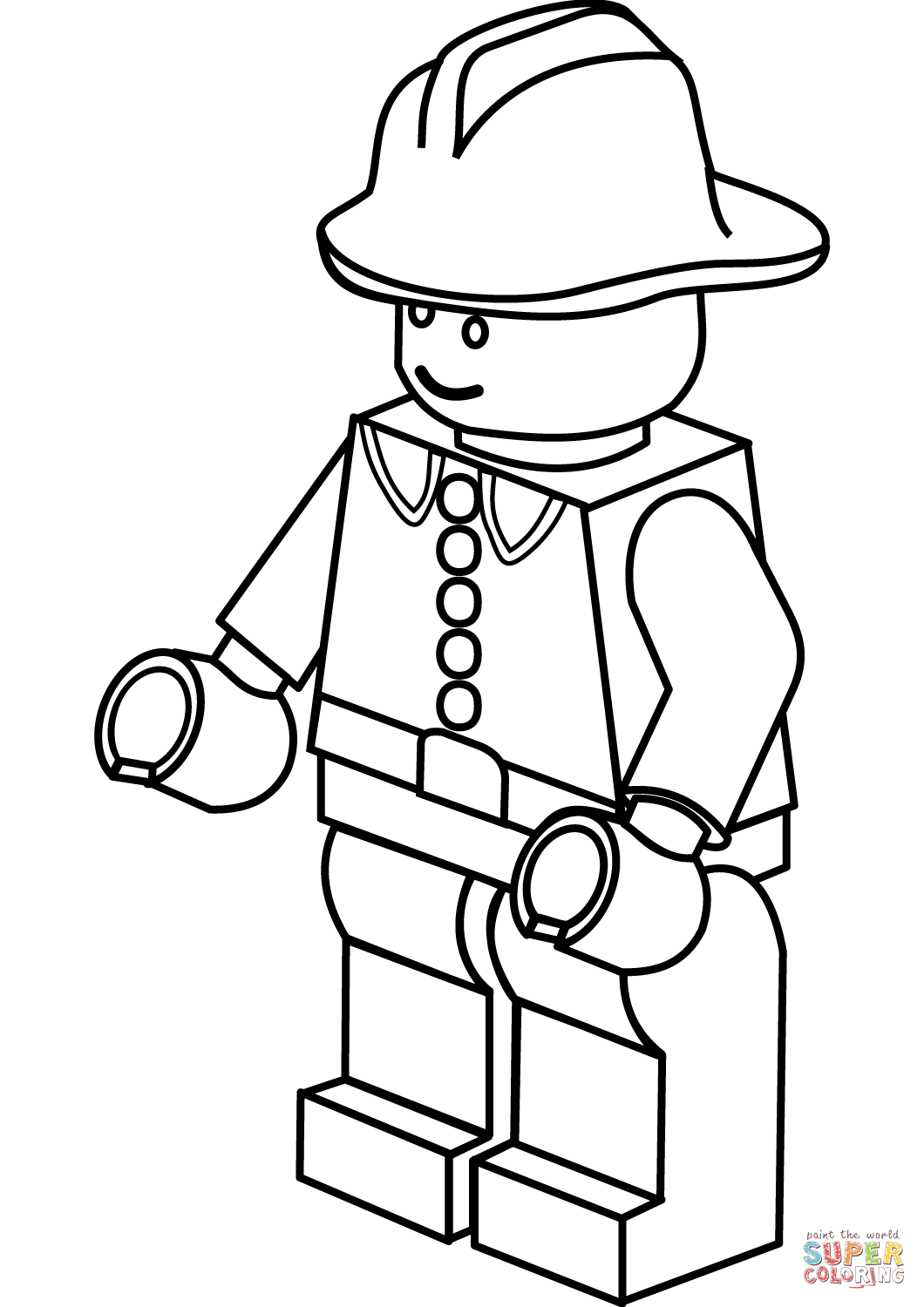 Portfolio Fire Fighter Coloring Page Lego Firefighter And