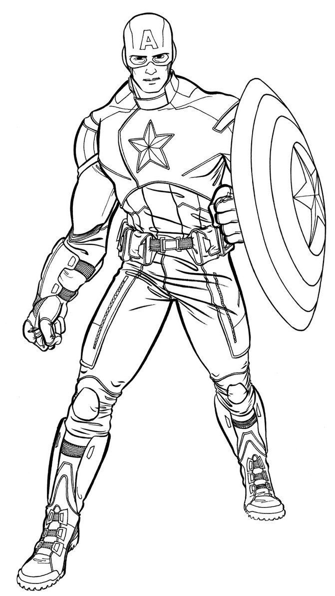 The Best Of Captain America Coloring Pages | Superhero