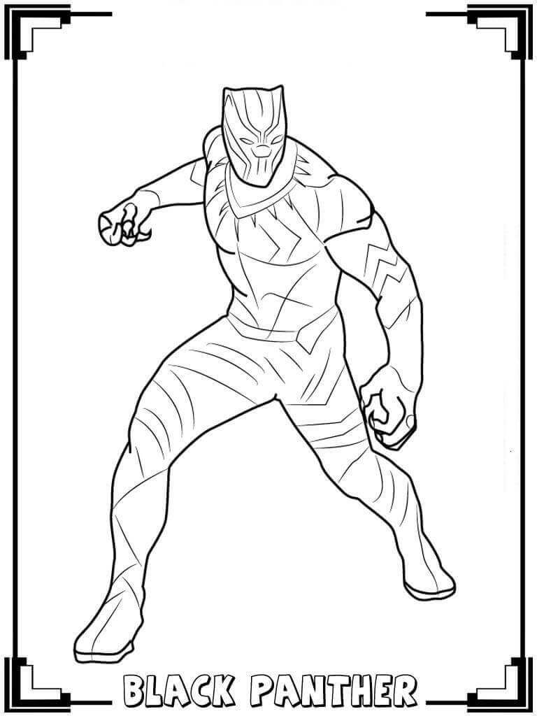 Black Panther Coloring Pages | Pj's 5th Bday | Black Panther