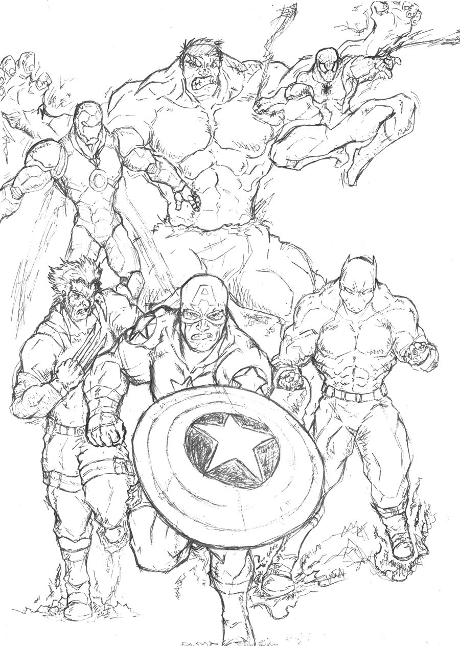 Marvel Superhero Coloring Pages For Kids | Coloring Pages
